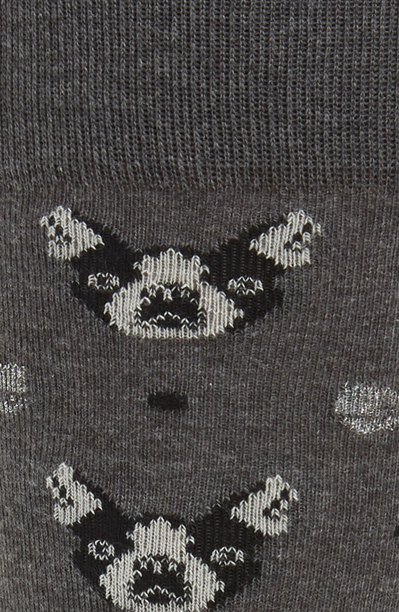 Boston Terrier Socks,                             Alternate thumbnail 2, color,                             CHARCOAL HEATHER