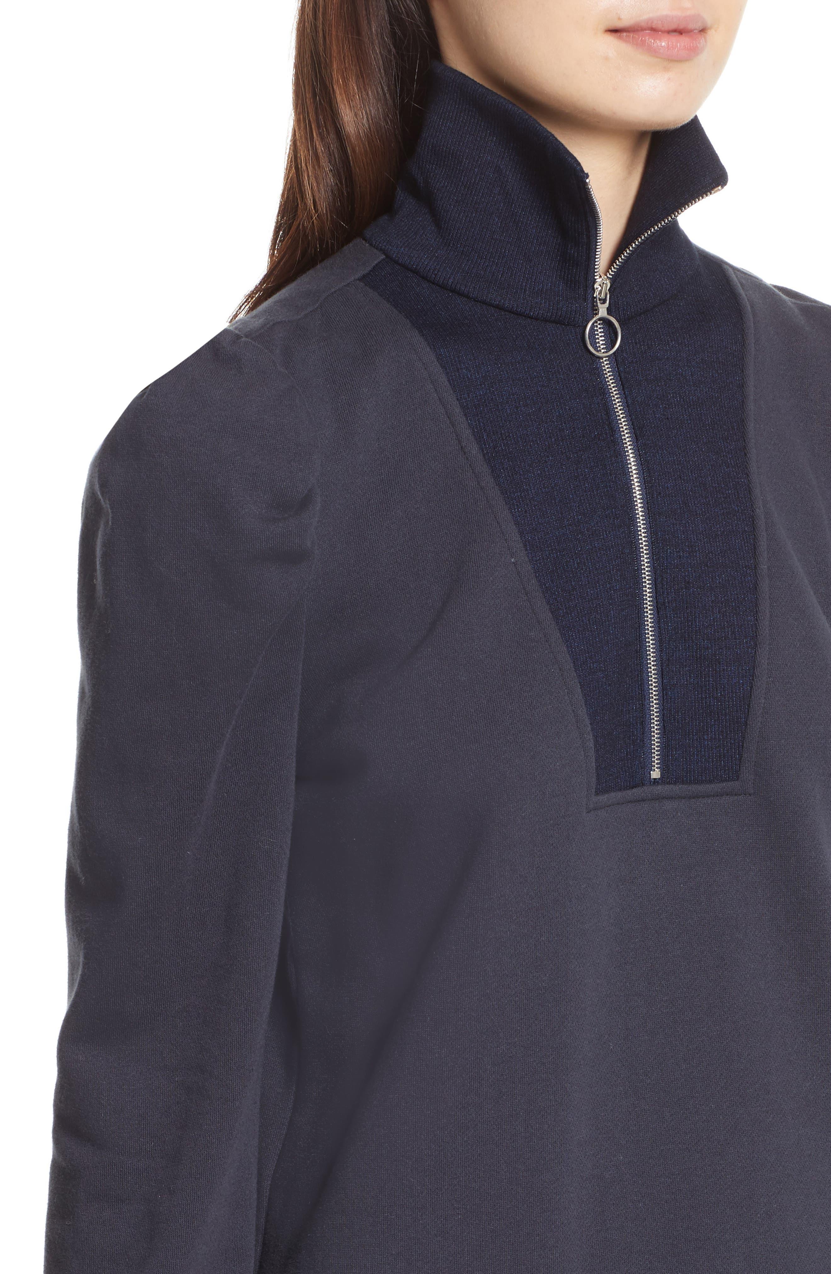Turtleneck Fleece Zip Pullover,                             Alternate thumbnail 4, color,                             403
