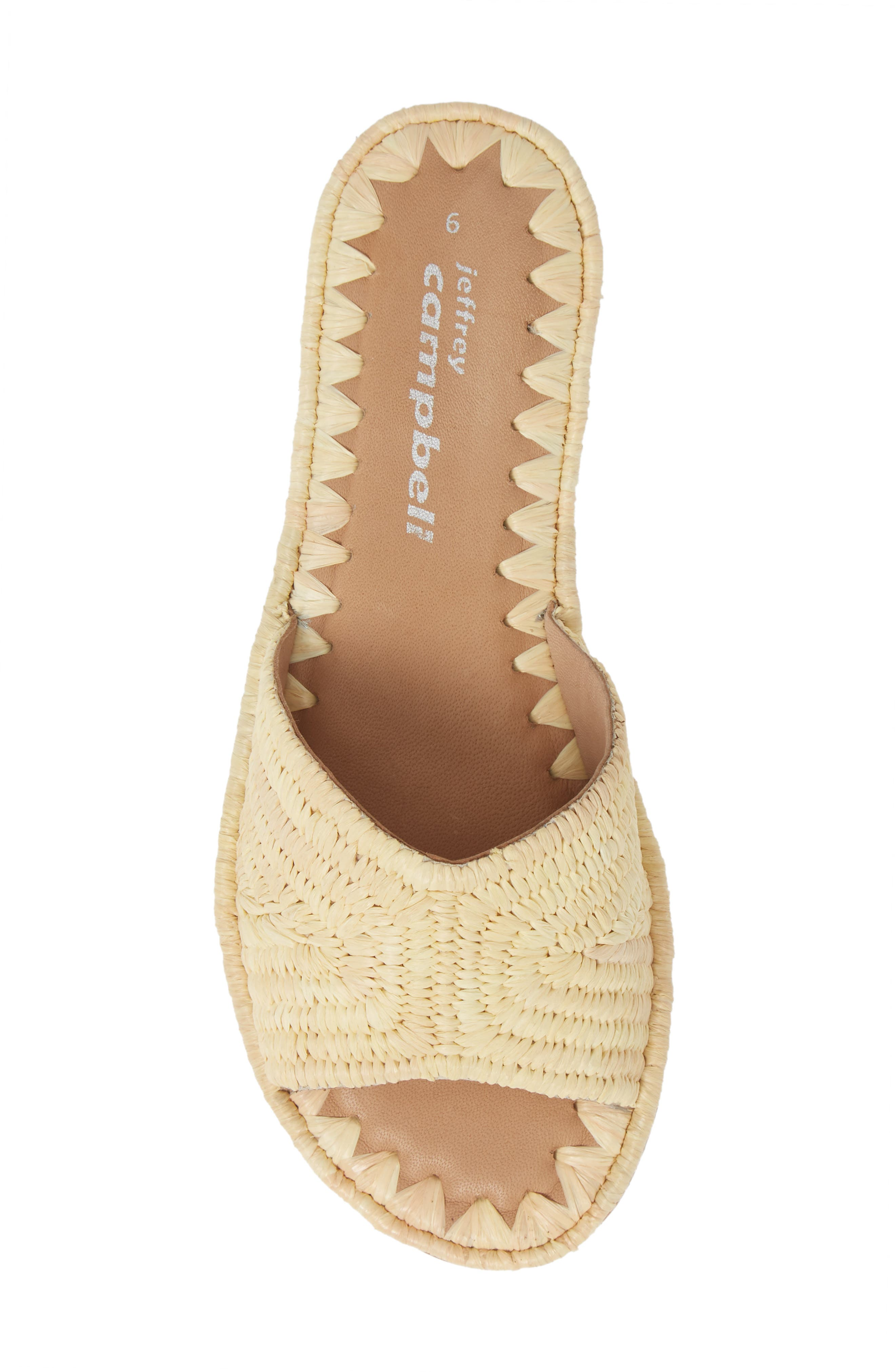 Dane Raffia Slide Sandal,                             Alternate thumbnail 5, color,                             NATURAL RAFFIA