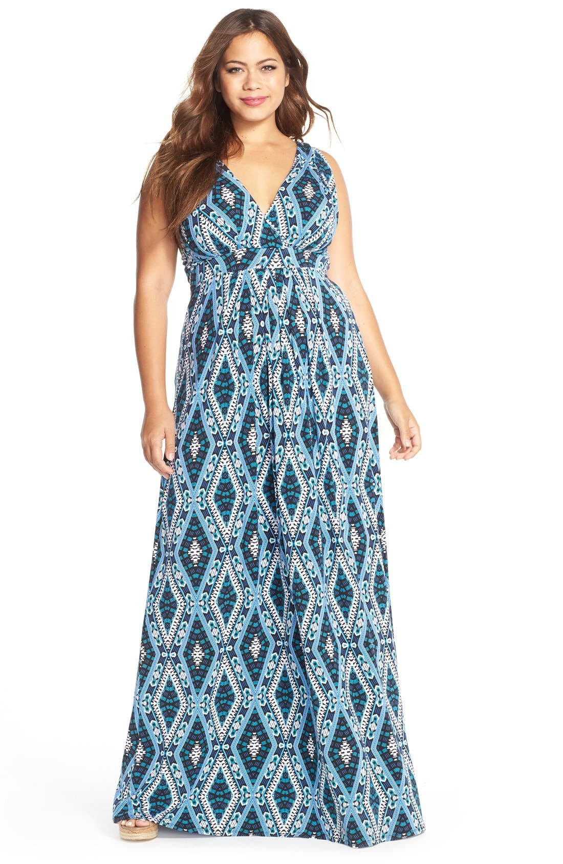Chloe Empire Waist Maxi Dress,                             Main thumbnail 11, color,