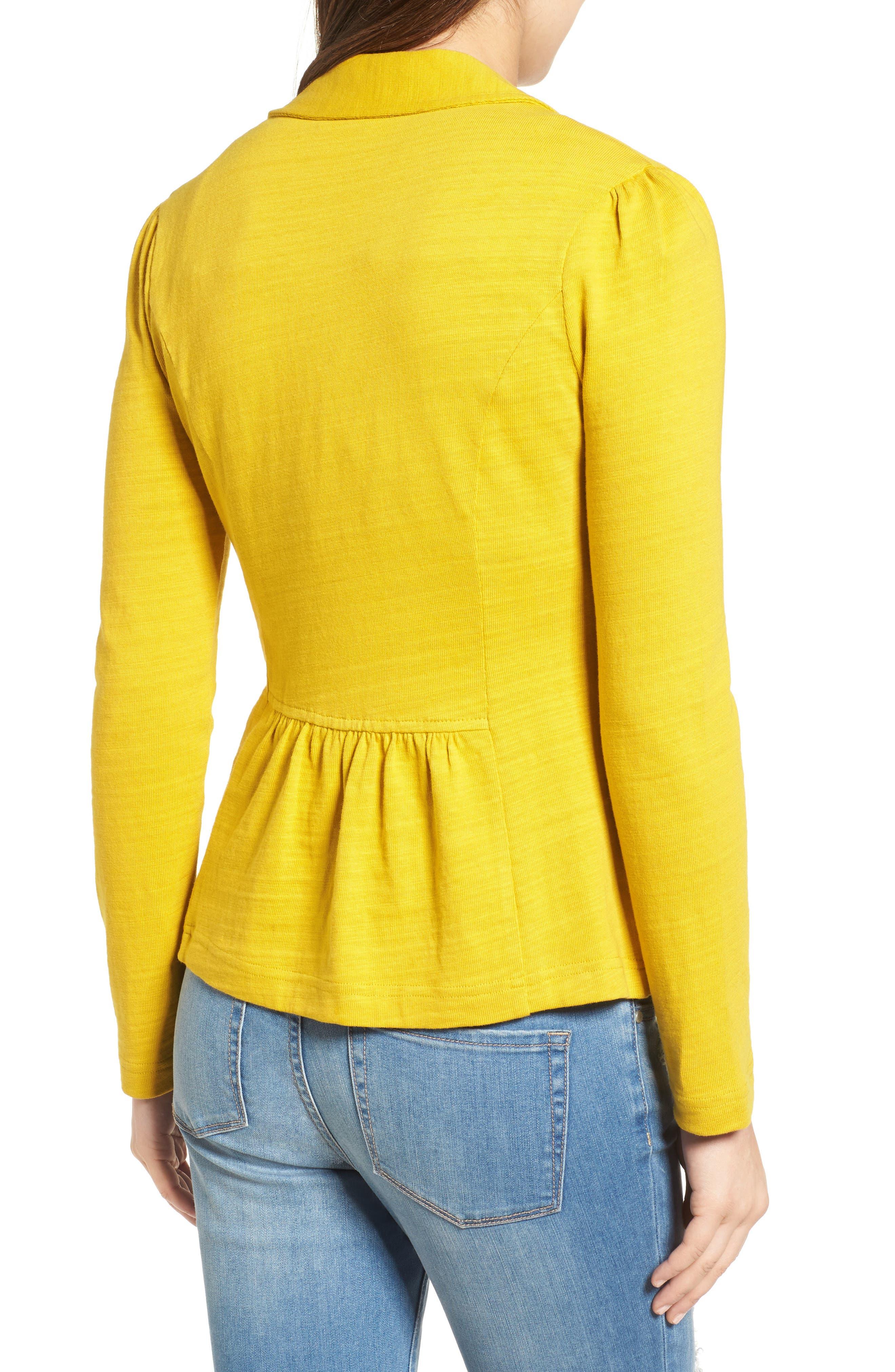 Knit One-Button Blazer,                             Alternate thumbnail 32, color,