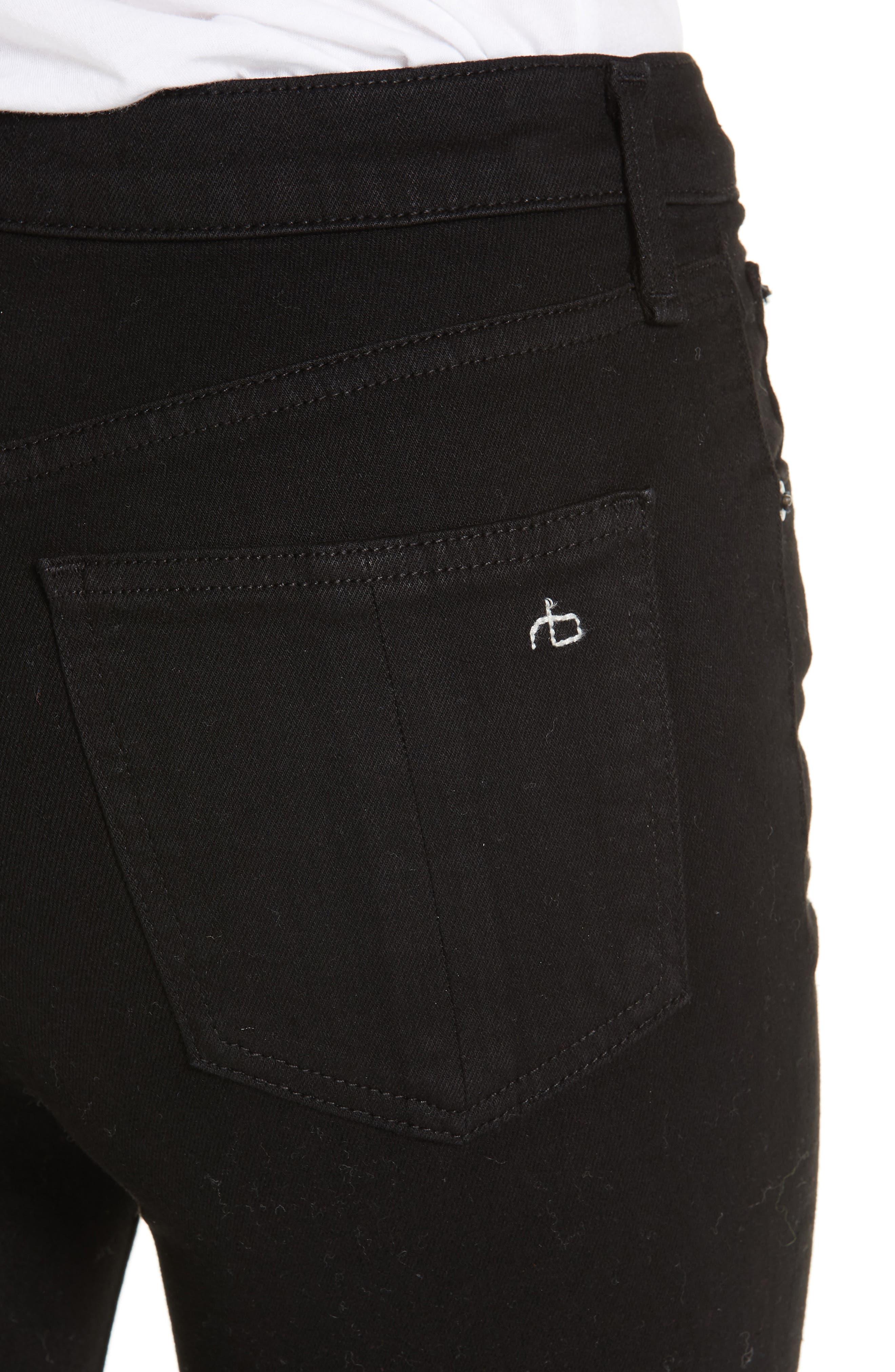 RAG & BONE,                             Hana High Waist Ankle Flare Jeans,                             Alternate thumbnail 4, color,                             001