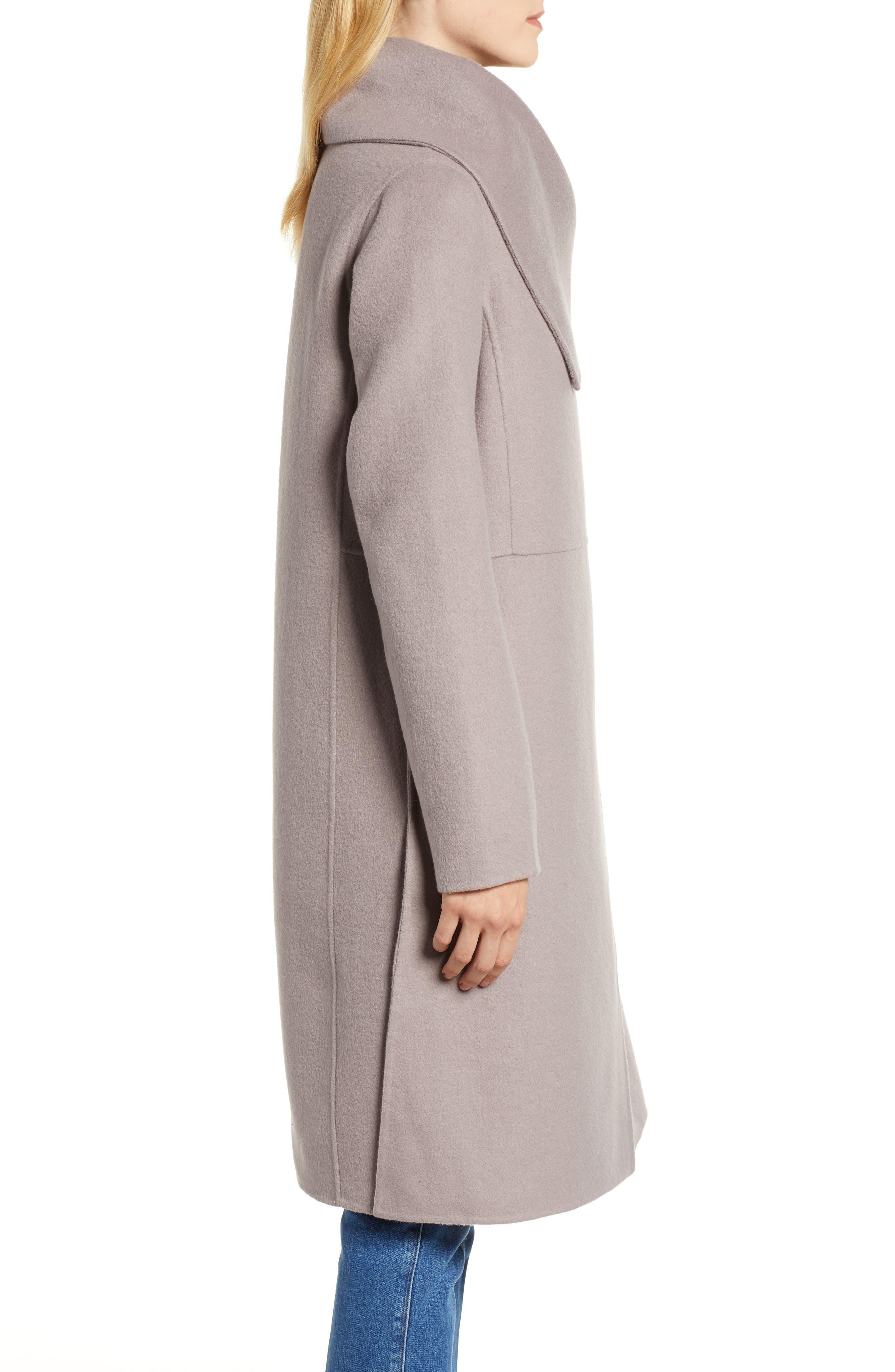 Double Faced Shawl Coat,                             Alternate thumbnail 3, color,                             420