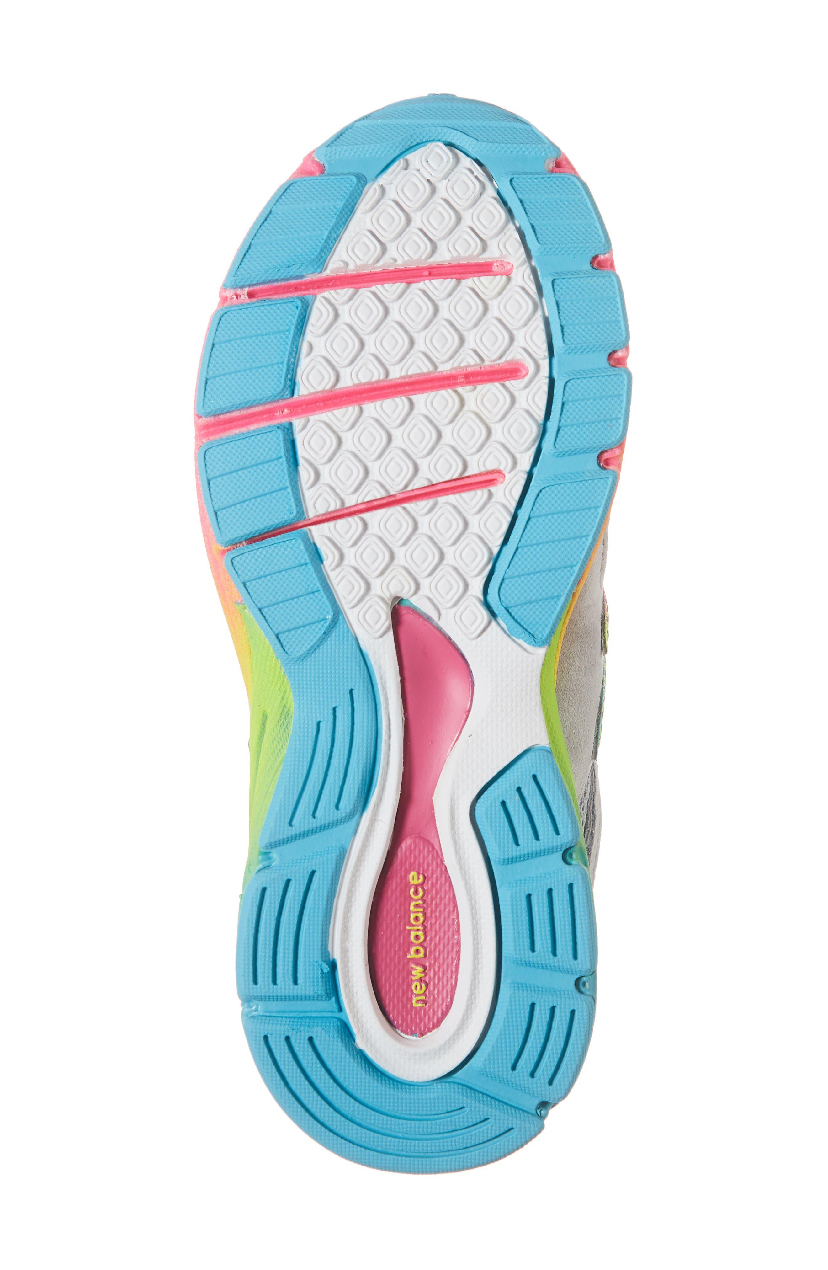 990v4 Sneaker,                             Alternate thumbnail 6, color,                             ATHLETIC GREY/ MULTI