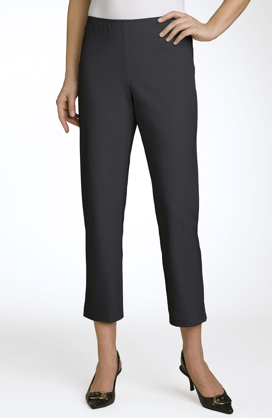 Organic Stretch Cotton Twill Ankle Pants,                             Main thumbnail 8, color,