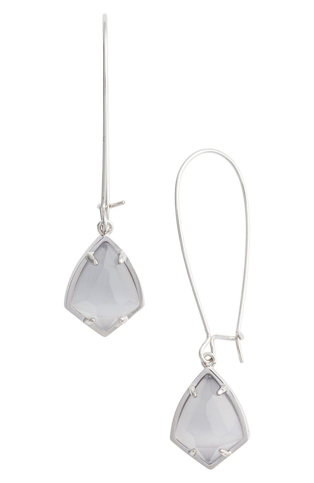 'Carrine' Semiprecious Stone Drop Earrings,                             Main thumbnail 4, color,