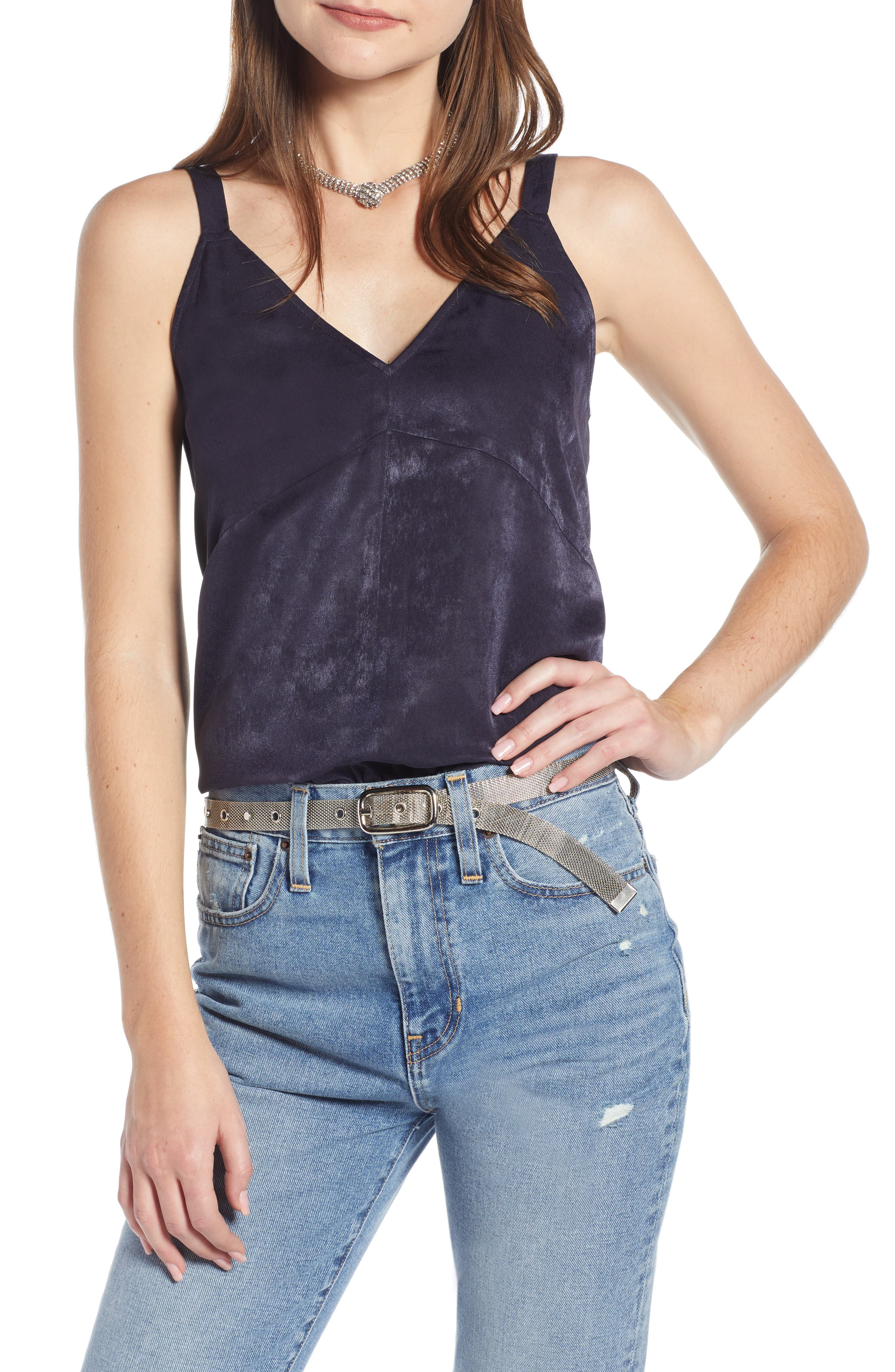 Something Navy Wide Strap Camisole, Blue