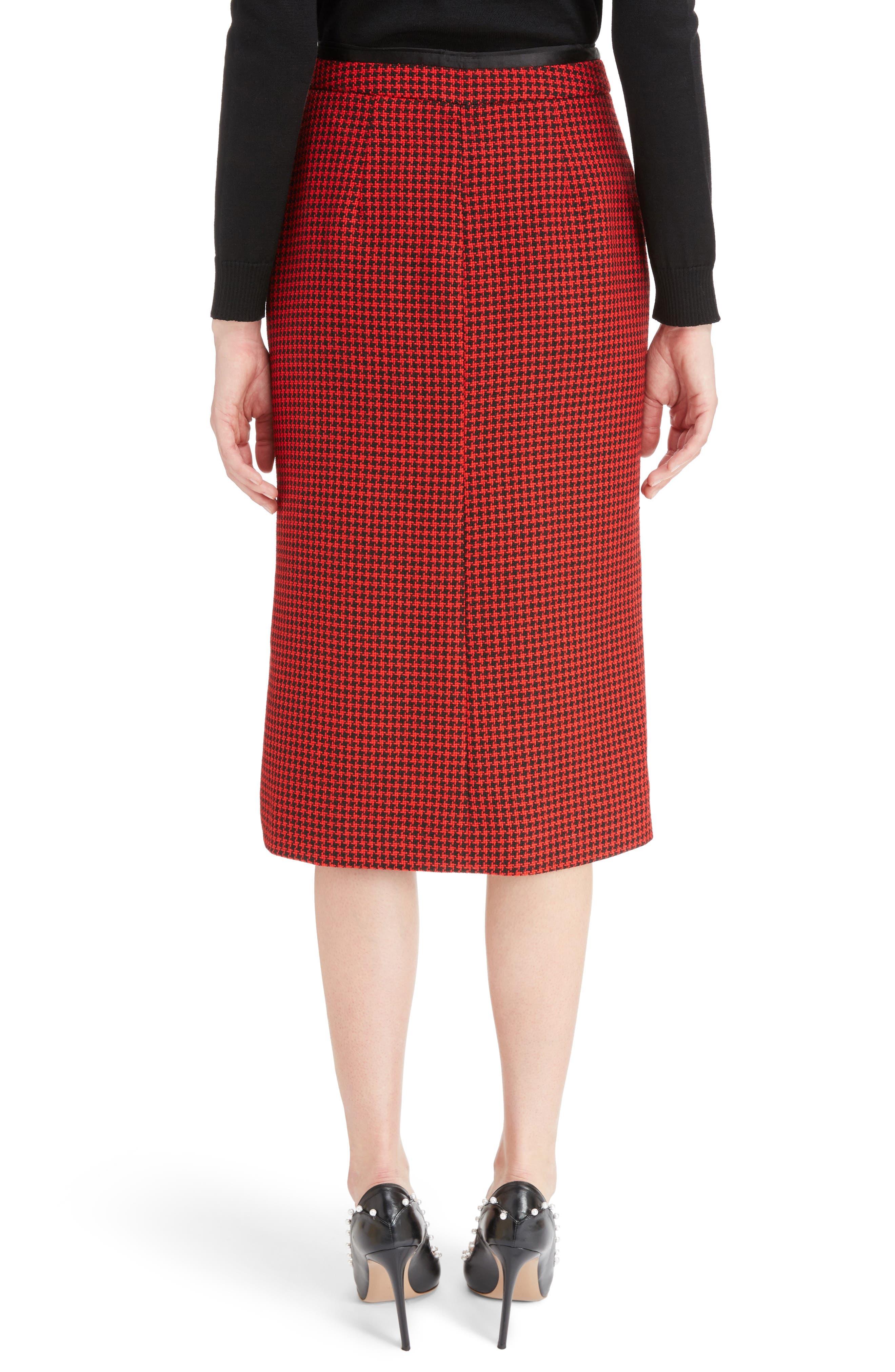 Christofor Houndstooth Wool Skirt,                             Alternate thumbnail 2, color,                             623