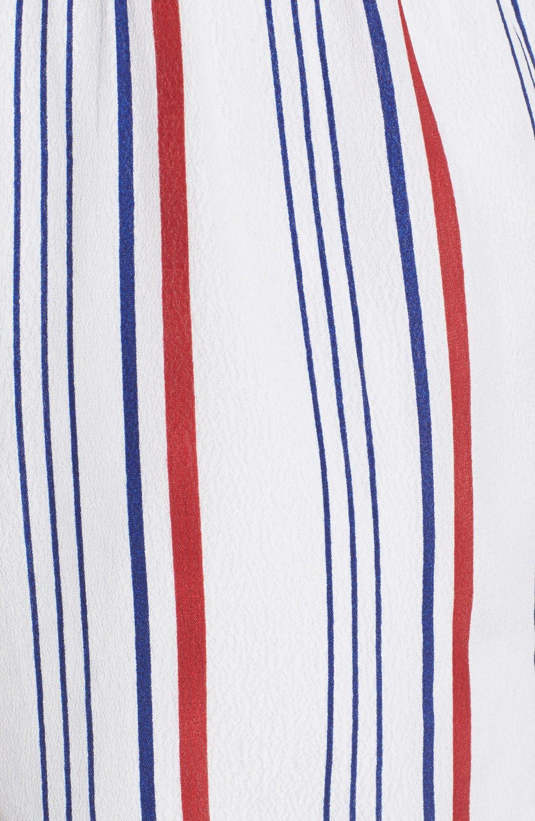 'Amelia' Stripe Romper,                             Alternate thumbnail 5, color,                             400