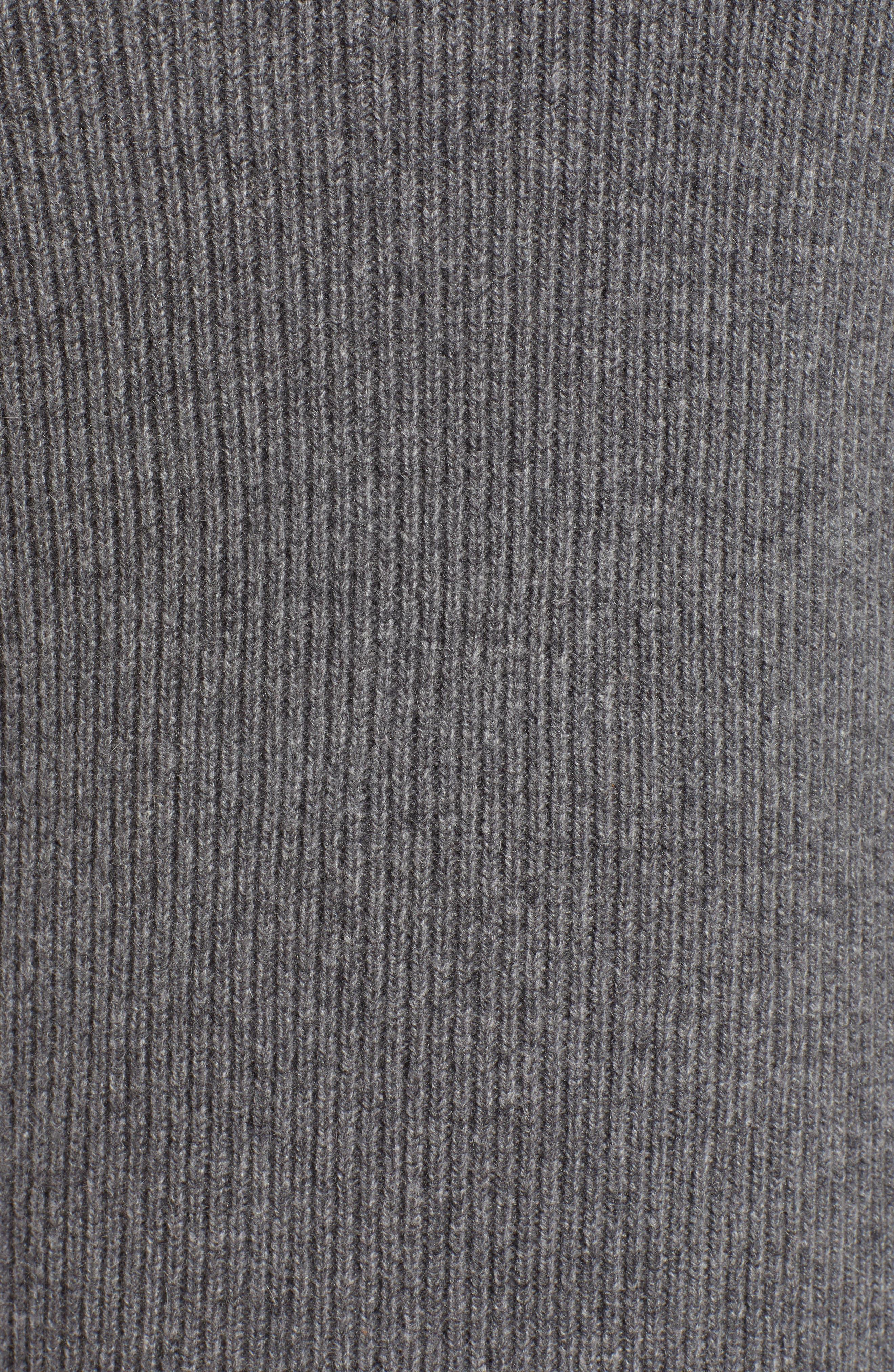 Blouson Sleeve Long Cashmere Cardigan,                             Alternate thumbnail 5, color,                             032