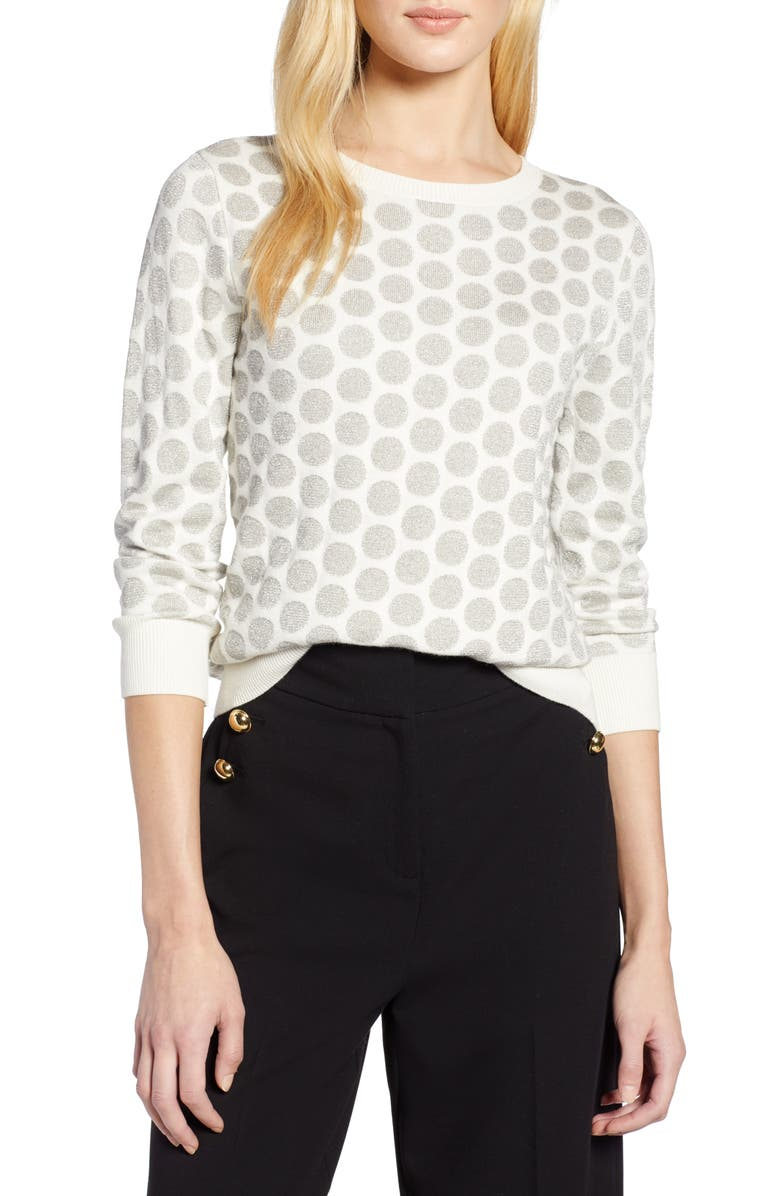 Halogen® x Atlantic-Pacific Shimmer Dot Sweater | Nordstrom