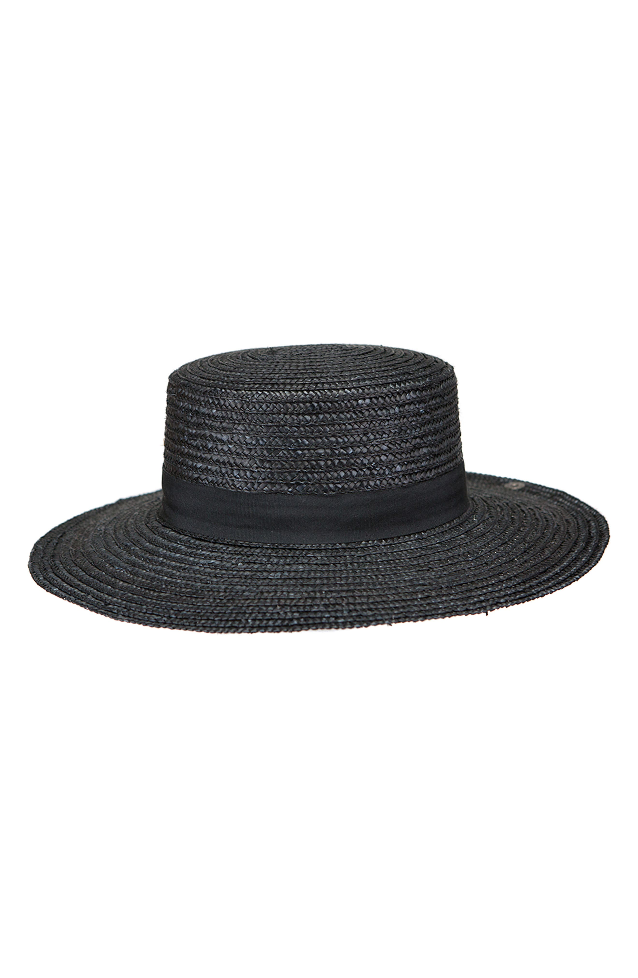 Lupe Straw Resort Hat,                         Main,                         color, BLACK