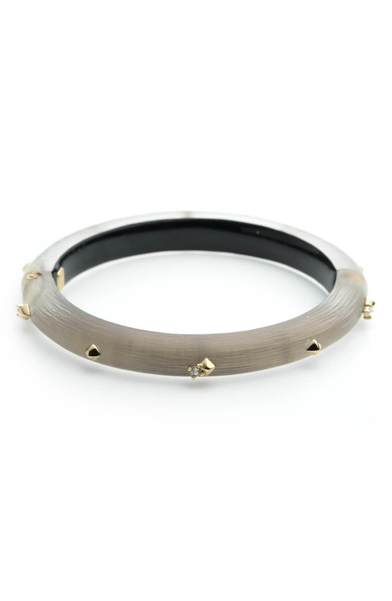 Essentials Golden Stud Hinge Bangle,                             Main thumbnail 1, color,                             WARM GREY