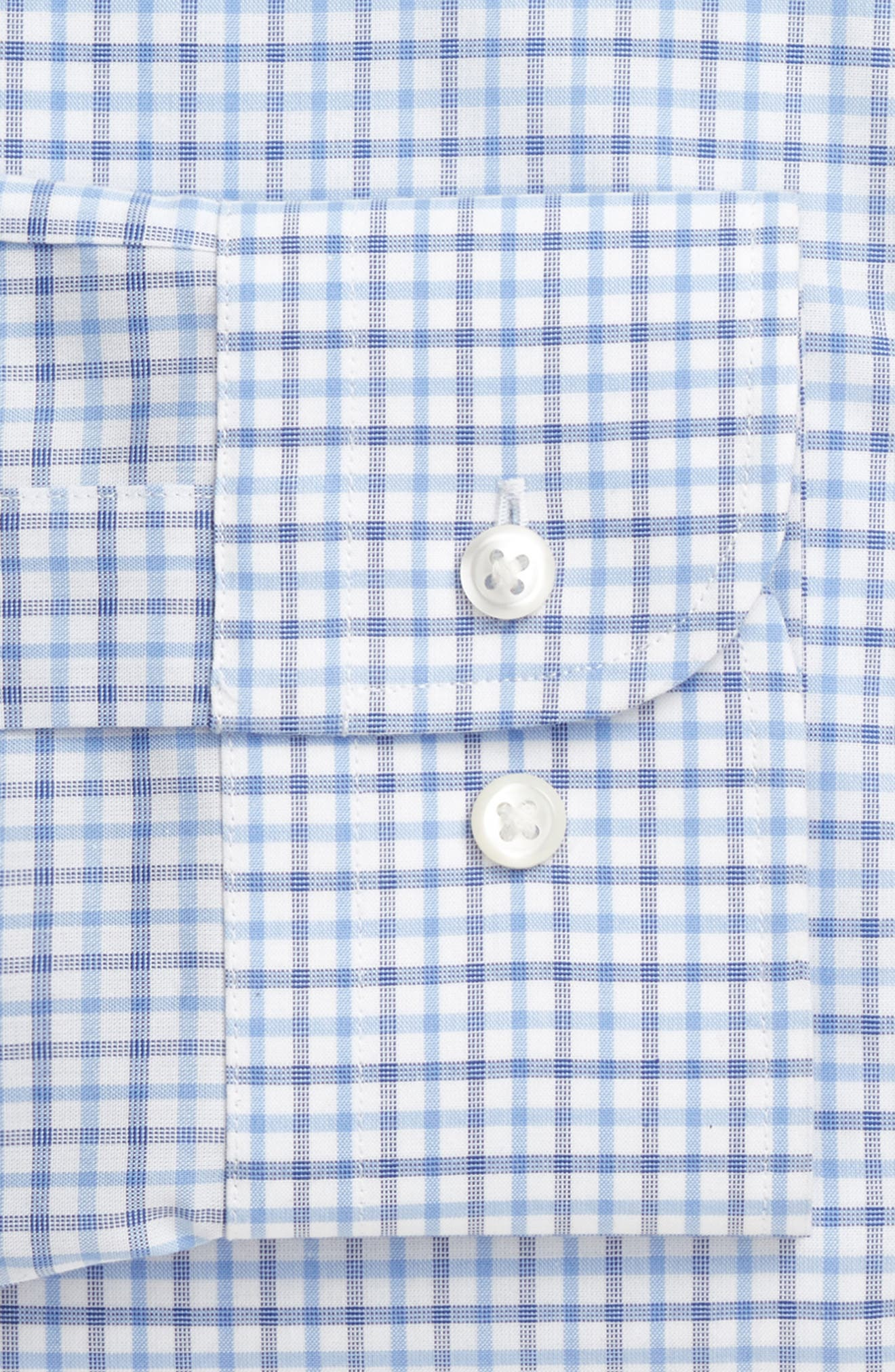Extra Trim Fit Check Dress Shirt,                             Alternate thumbnail 23, color,