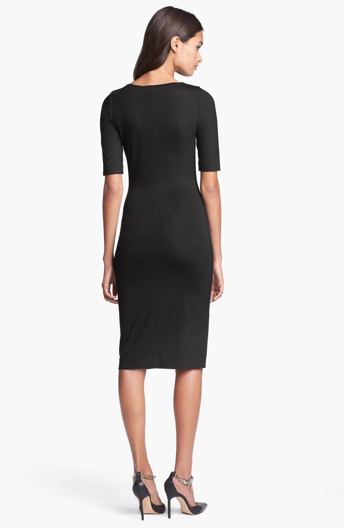 'Raquel' Knit Sheath Dress,                             Alternate thumbnail 2, color,                             001