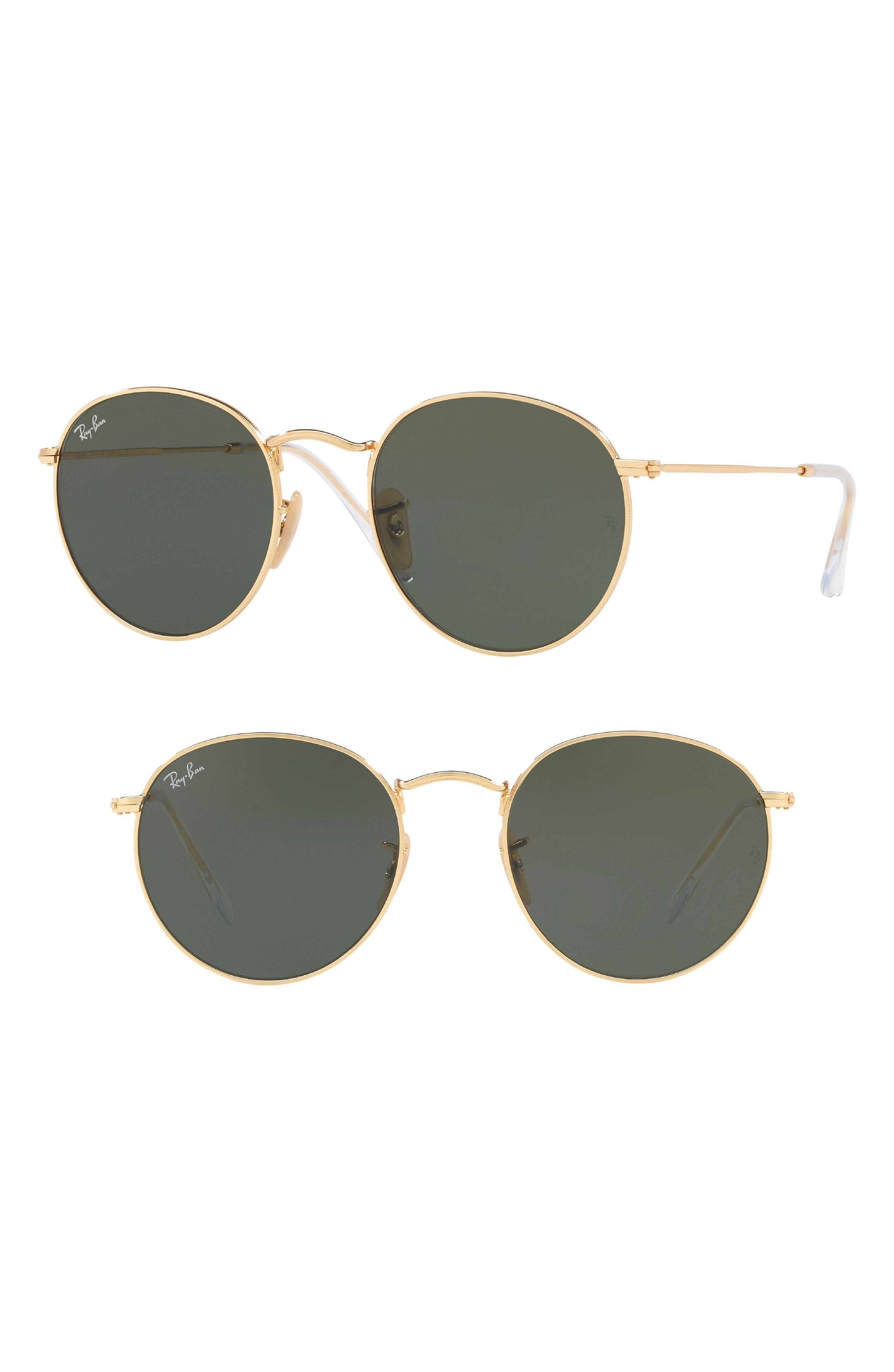 Ray-Ban Phantos 50Mm Round Sunglasses - Crystal Green