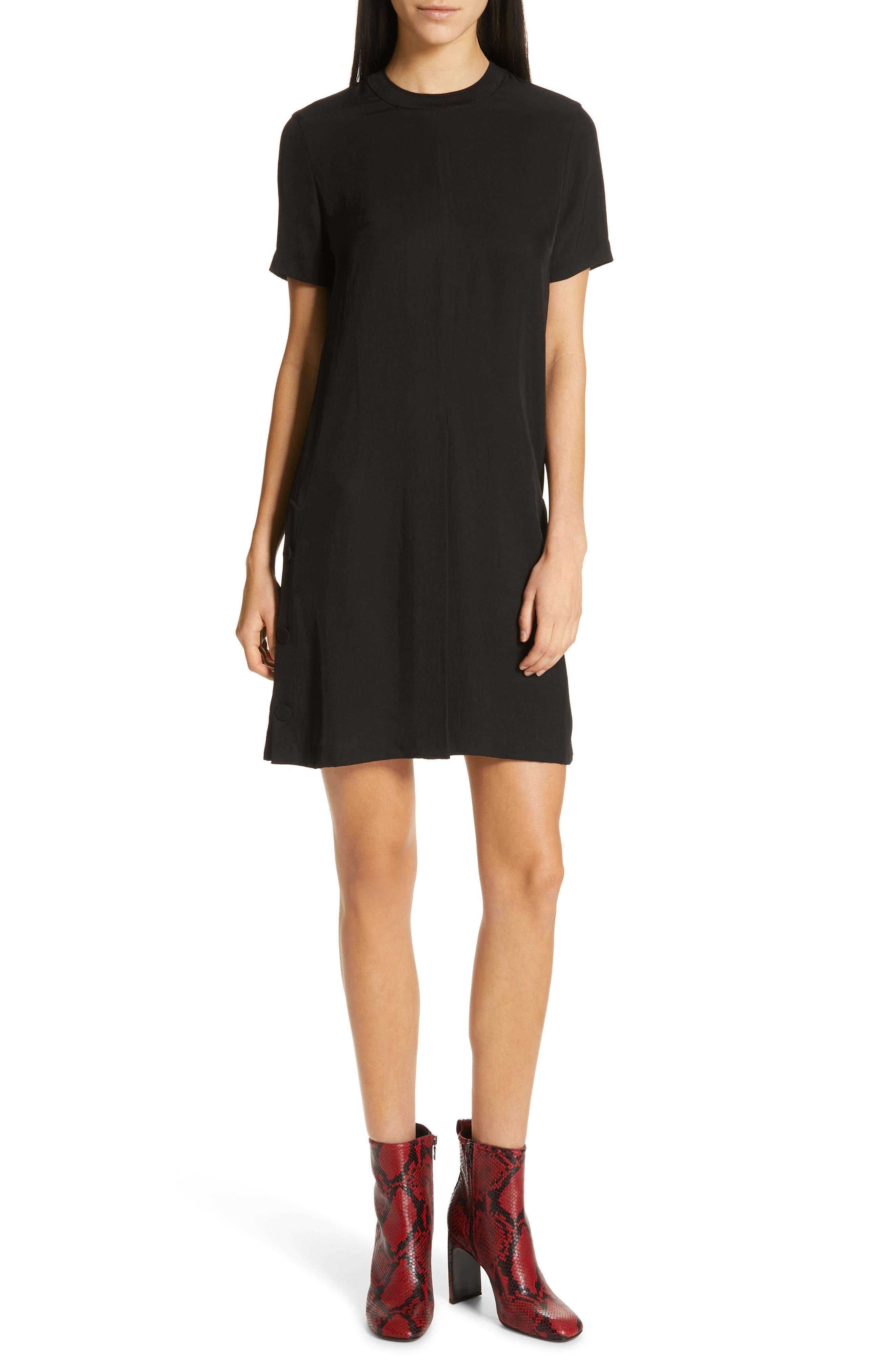 RAG & BONE Aiden T-Shirt Dress, Main, color, BLACK