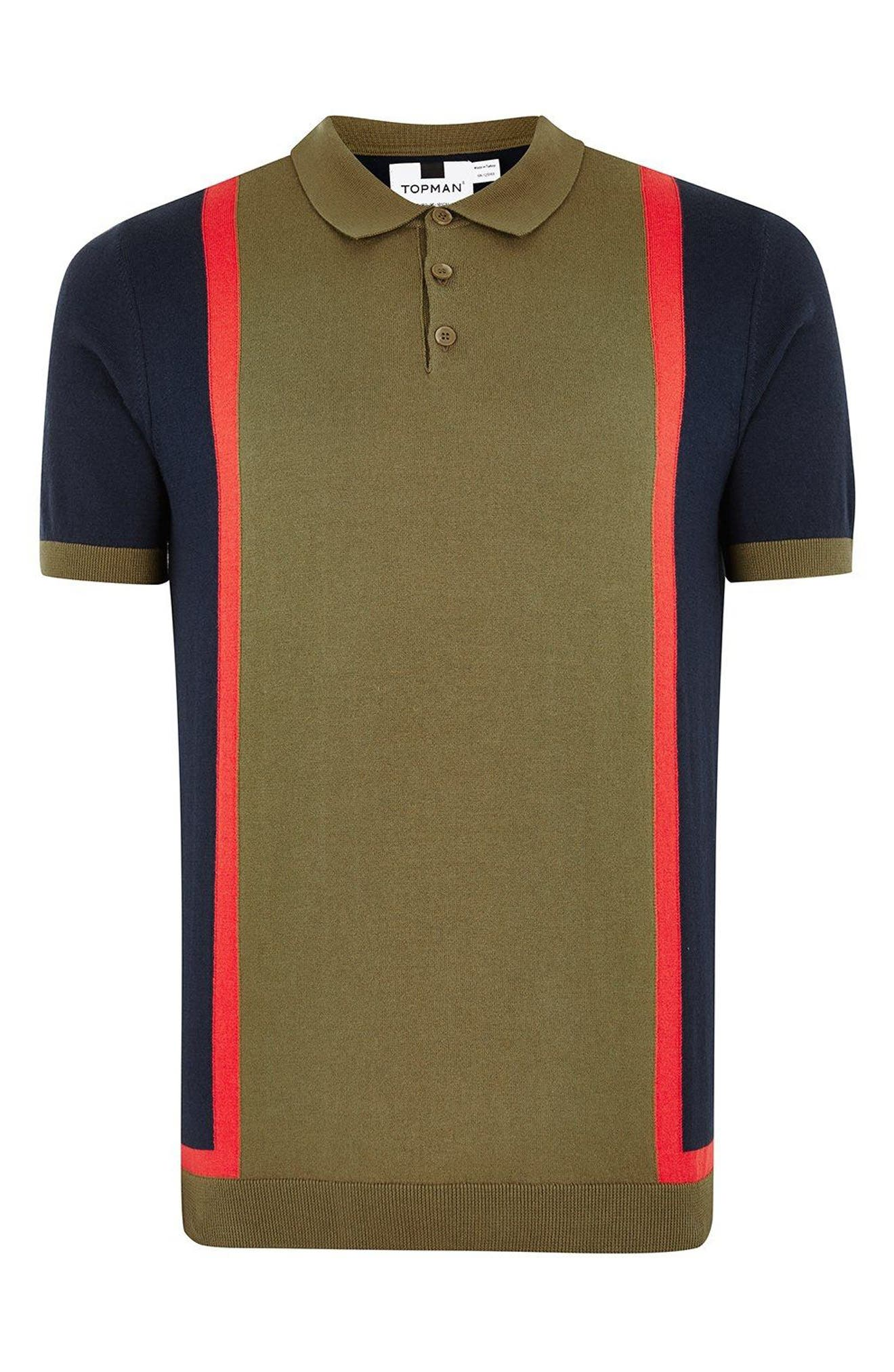TOPMAN,                             Colorblock Classic Fit Polo,                             Alternate thumbnail 4, color,                             300