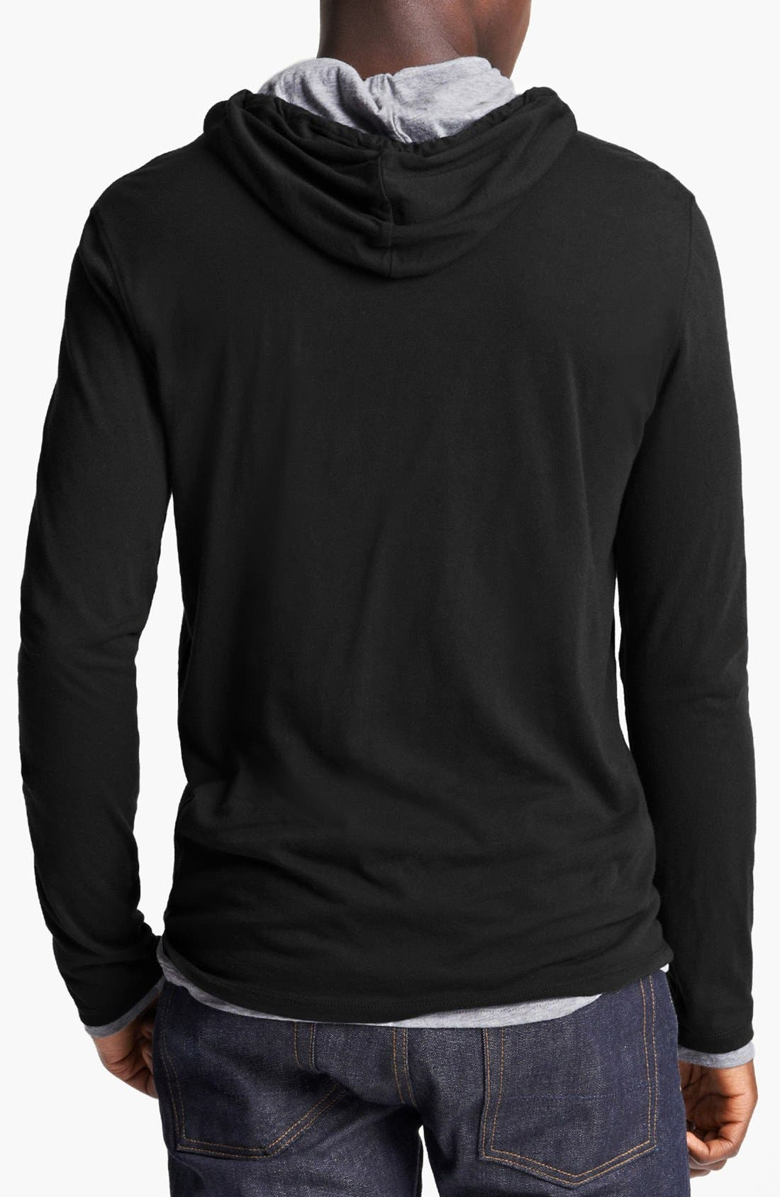 Double Layer Hoodie,                             Alternate thumbnail 3, color,                             001
