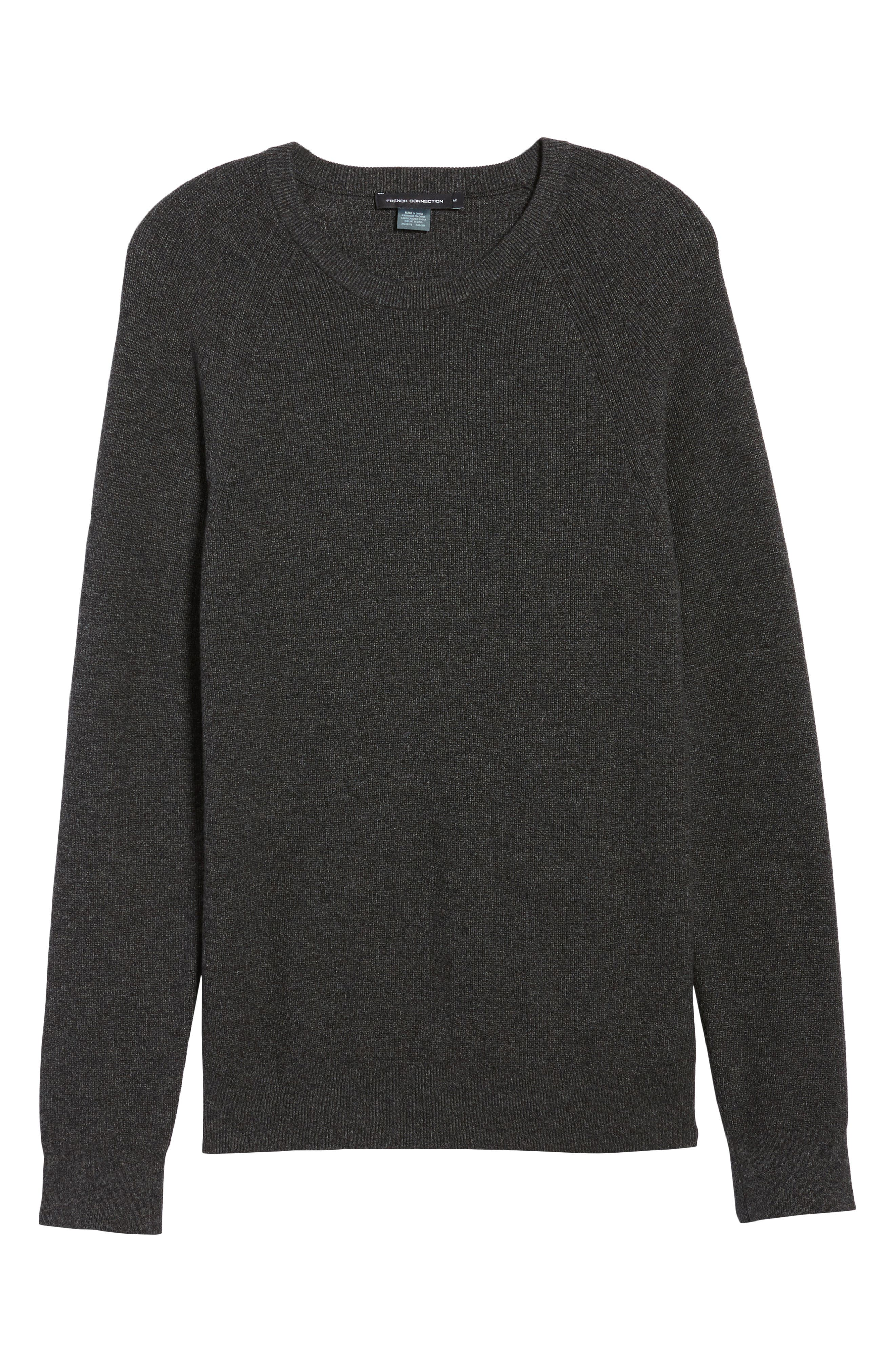 Ribbed Crewneck Sweater,                             Alternate thumbnail 6, color,                             014