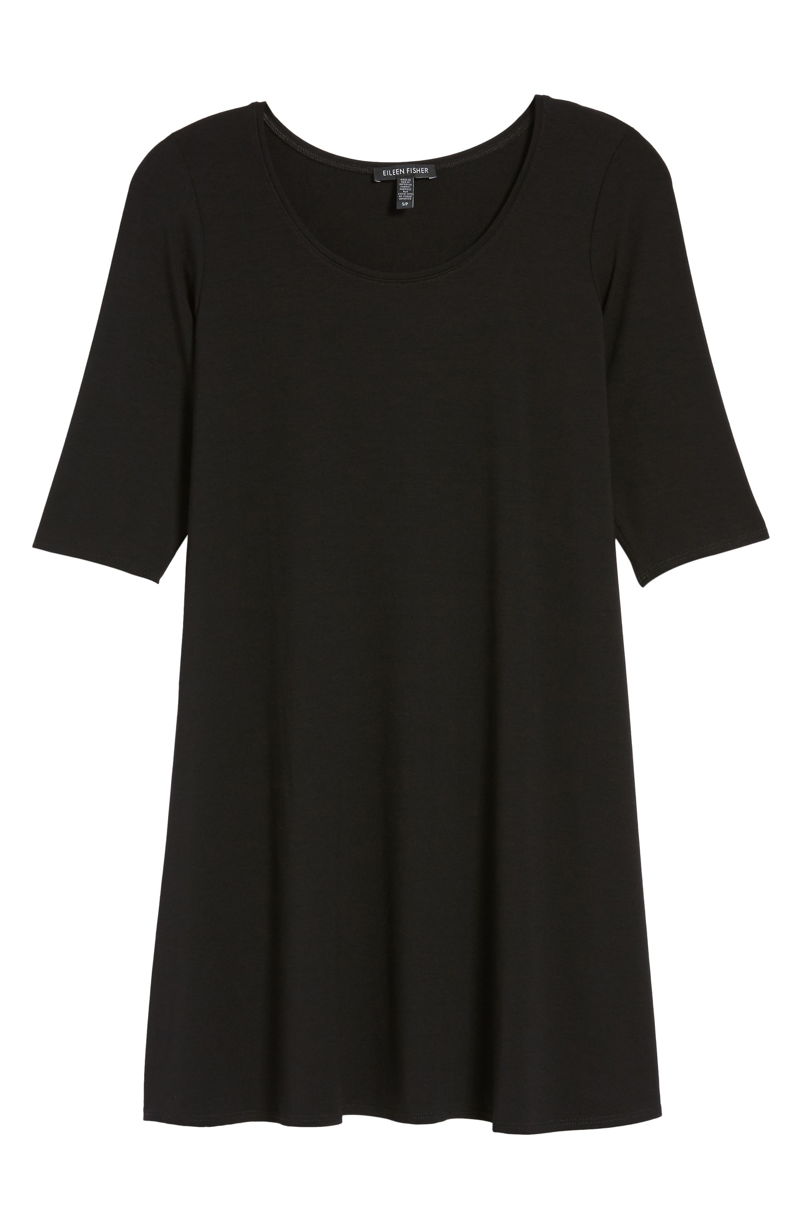 Scoop Neck Jersey Tunic,                             Main thumbnail 1, color,                             001