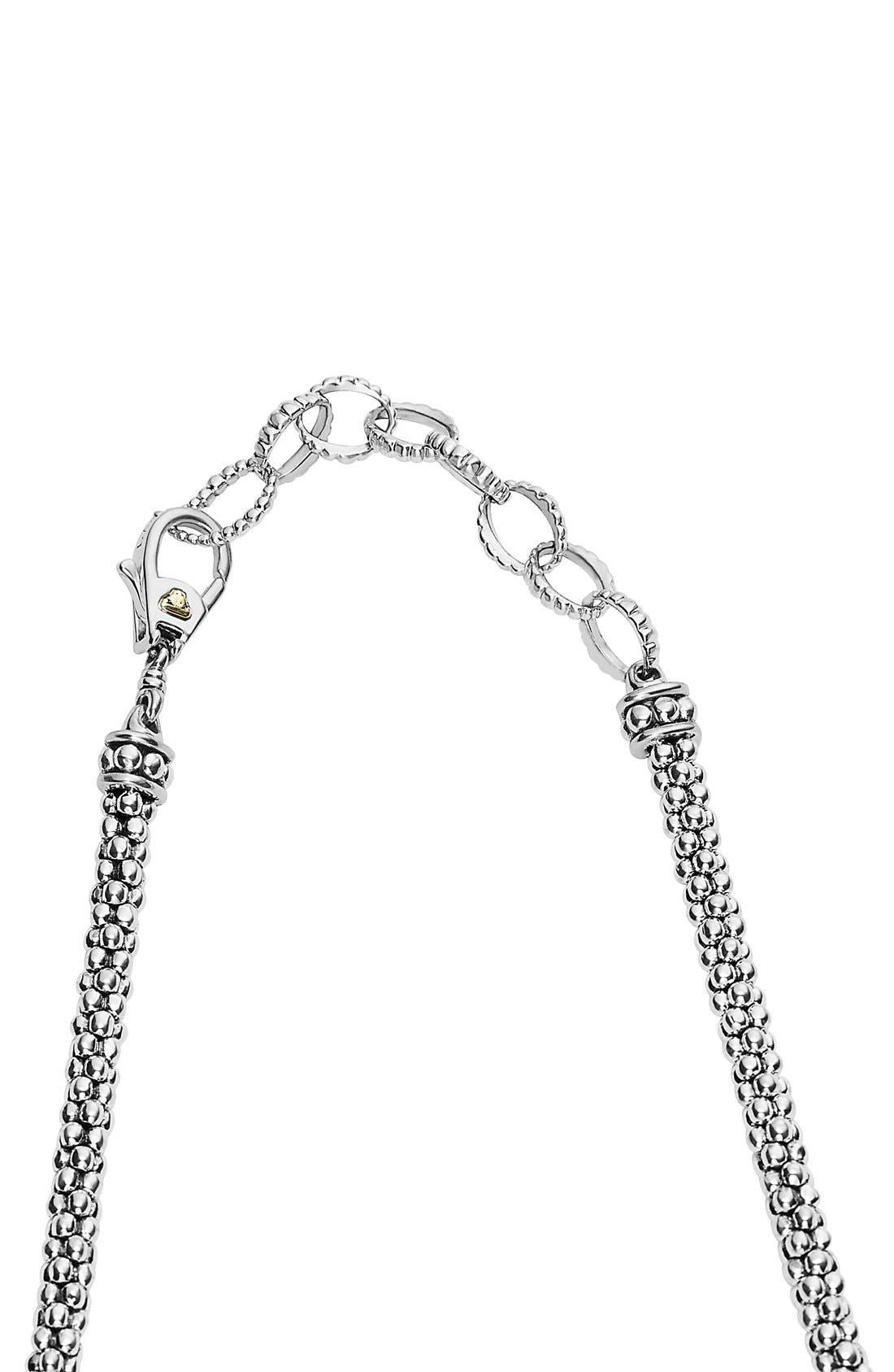 'Caviar Icon' Rope Bib Necklace,                             Alternate thumbnail 4, color,                             041