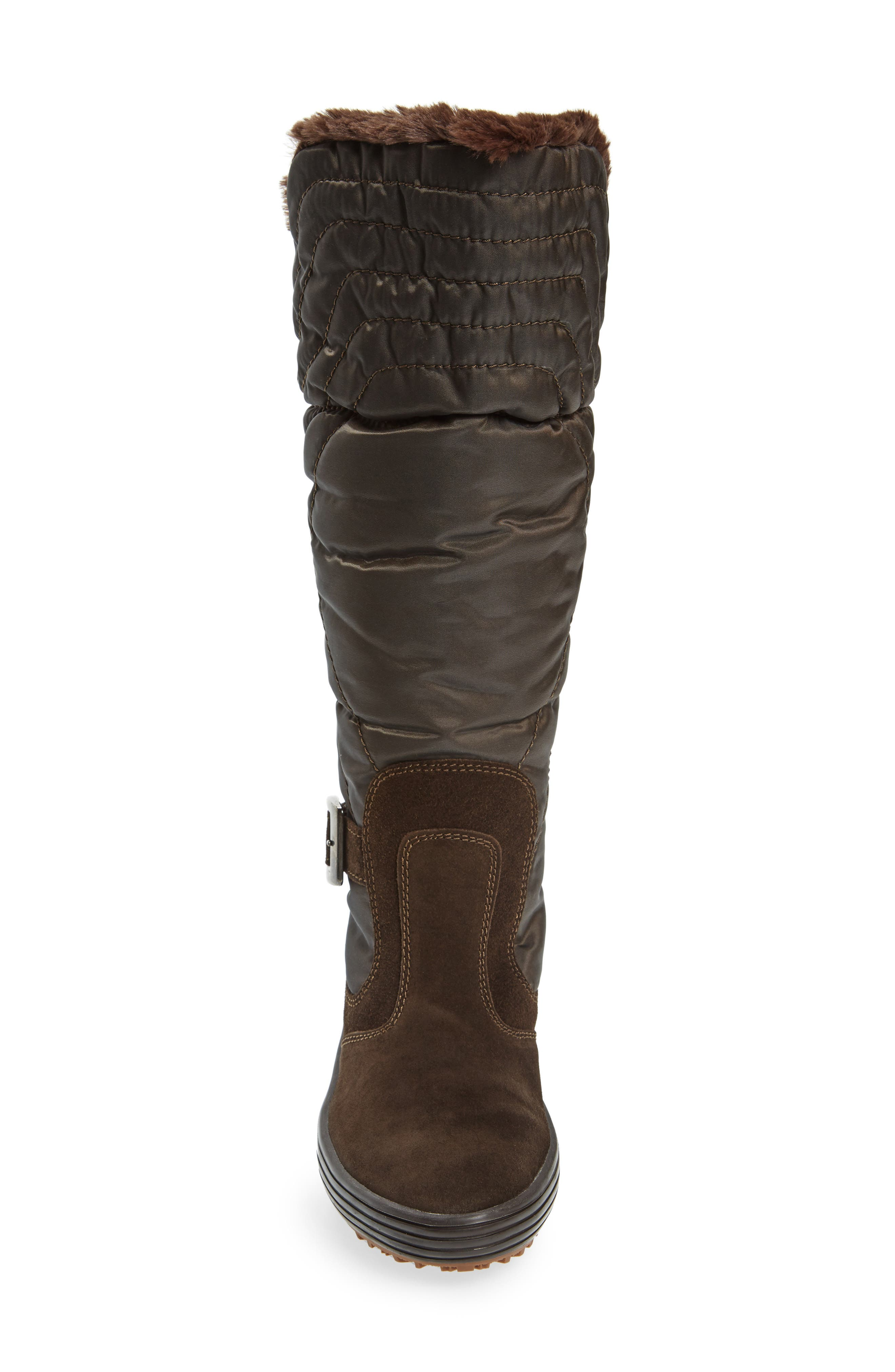Natasha Faux Fur Lined Waterproof Boot,                             Alternate thumbnail 8, color,