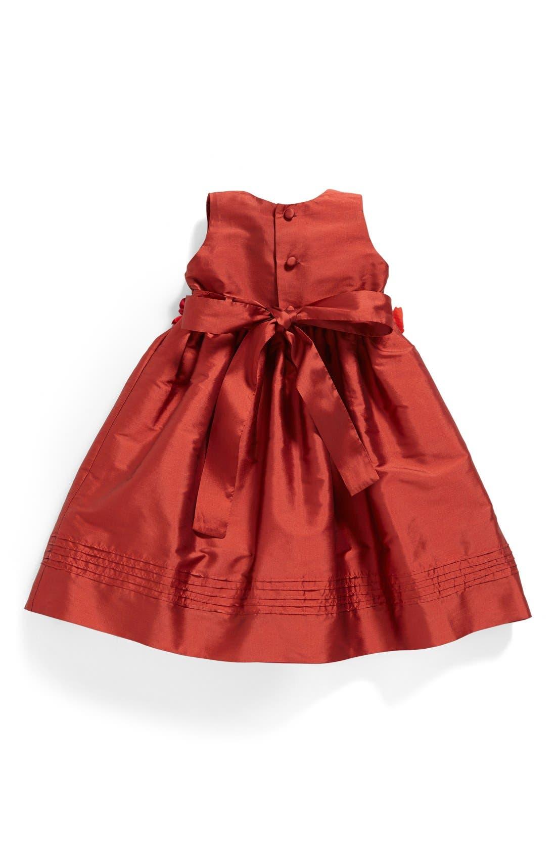 Silk Sleeveless A-Line Dress,                             Alternate thumbnail 3, color,