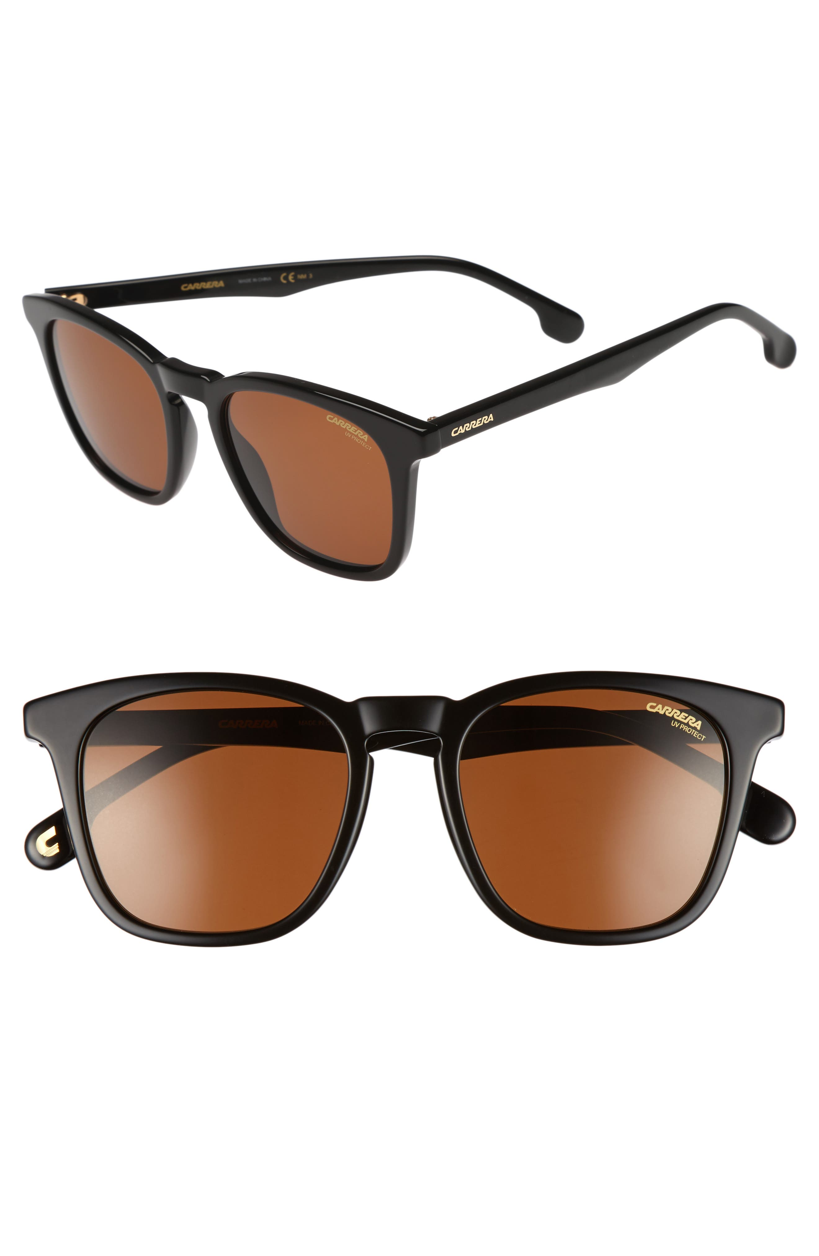 Carrera 143S 51mm Sunglasses,                             Main thumbnail 1, color,                             BLACK/ BROWN