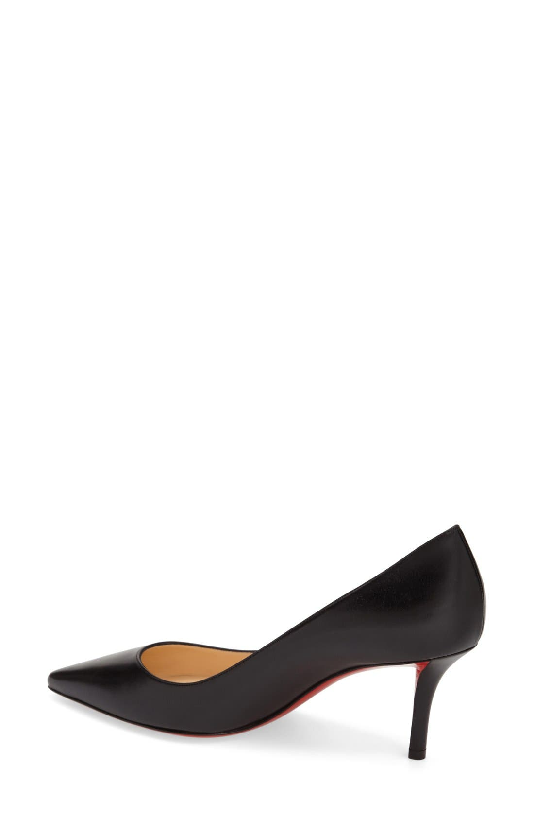 'Apostrophy' Pointy Toe Pump,                             Alternate thumbnail 3, color,                             001