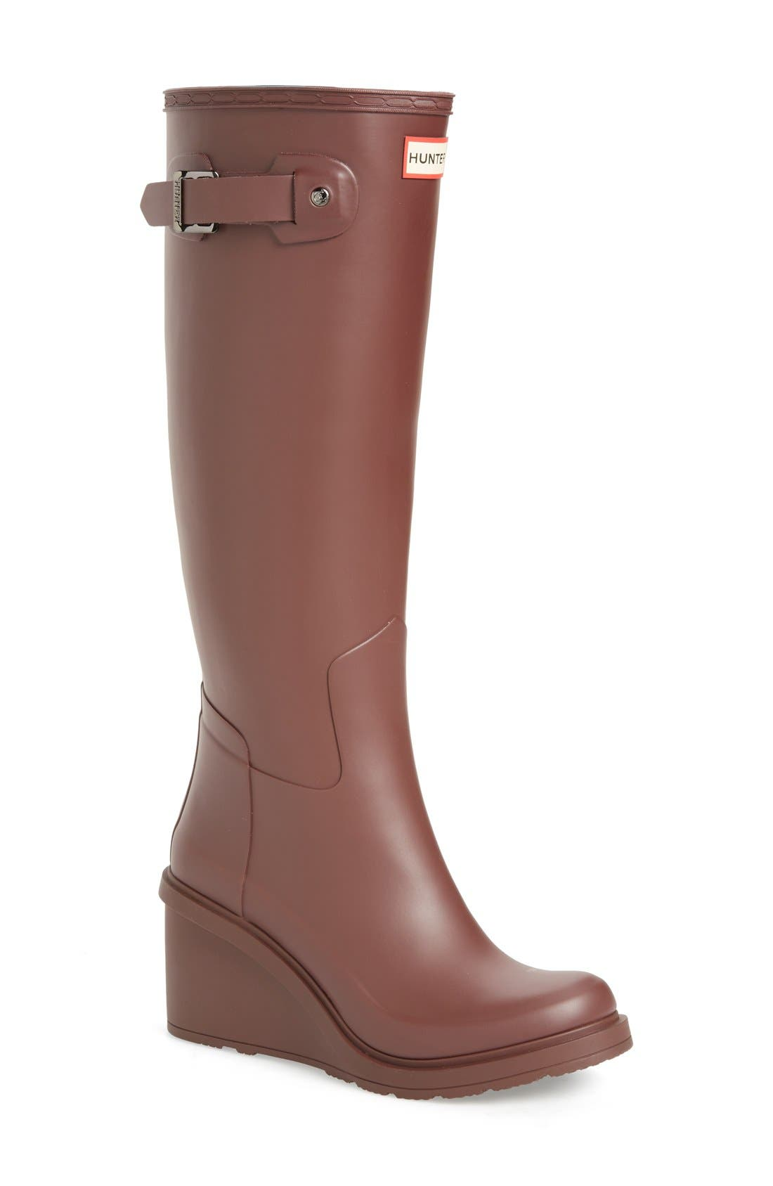 Original Refined Wedge Rain Boot,                             Main thumbnail 4, color,