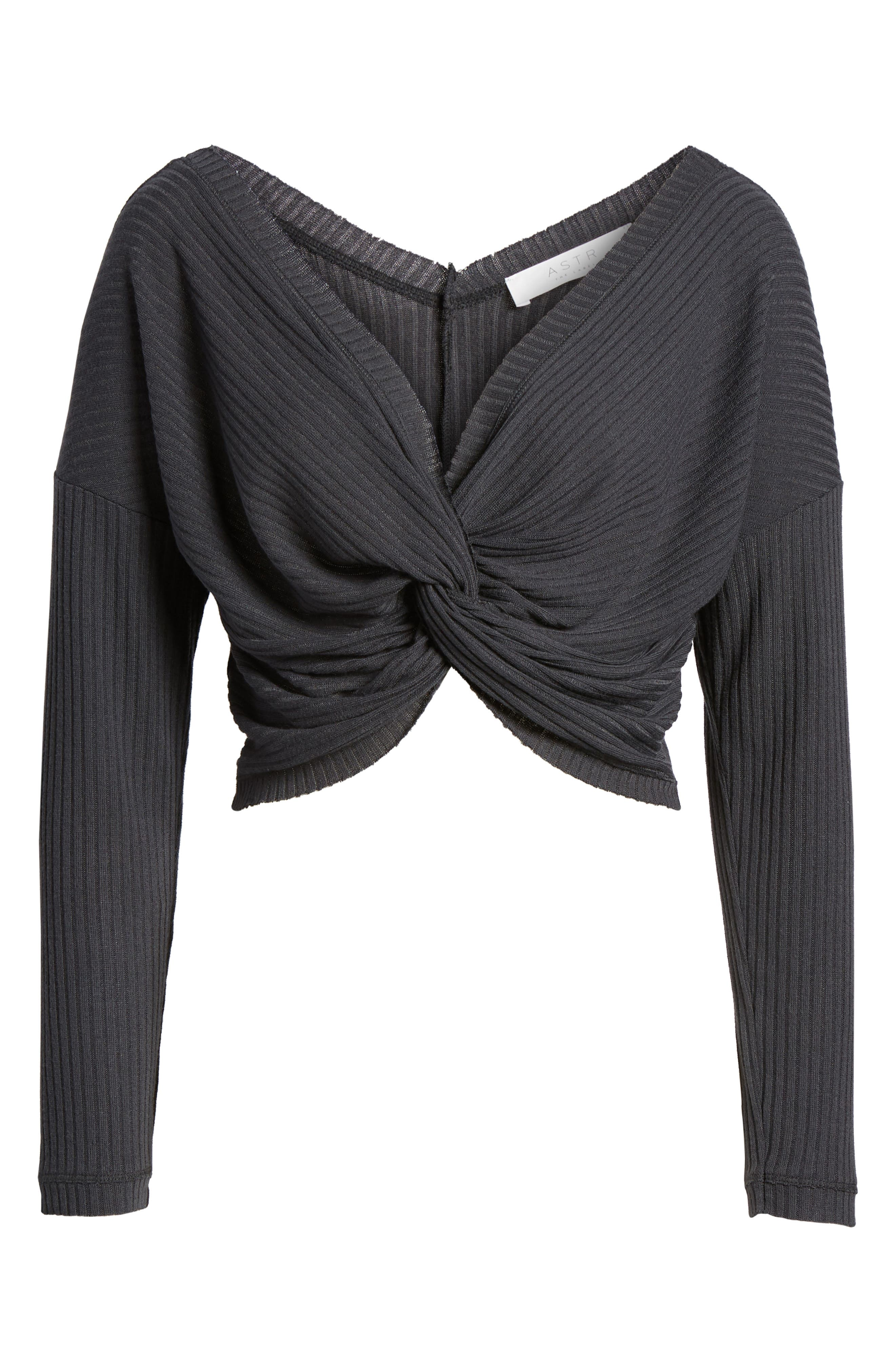 Twist Front Cropped Top,                             Alternate thumbnail 7, color,                             020