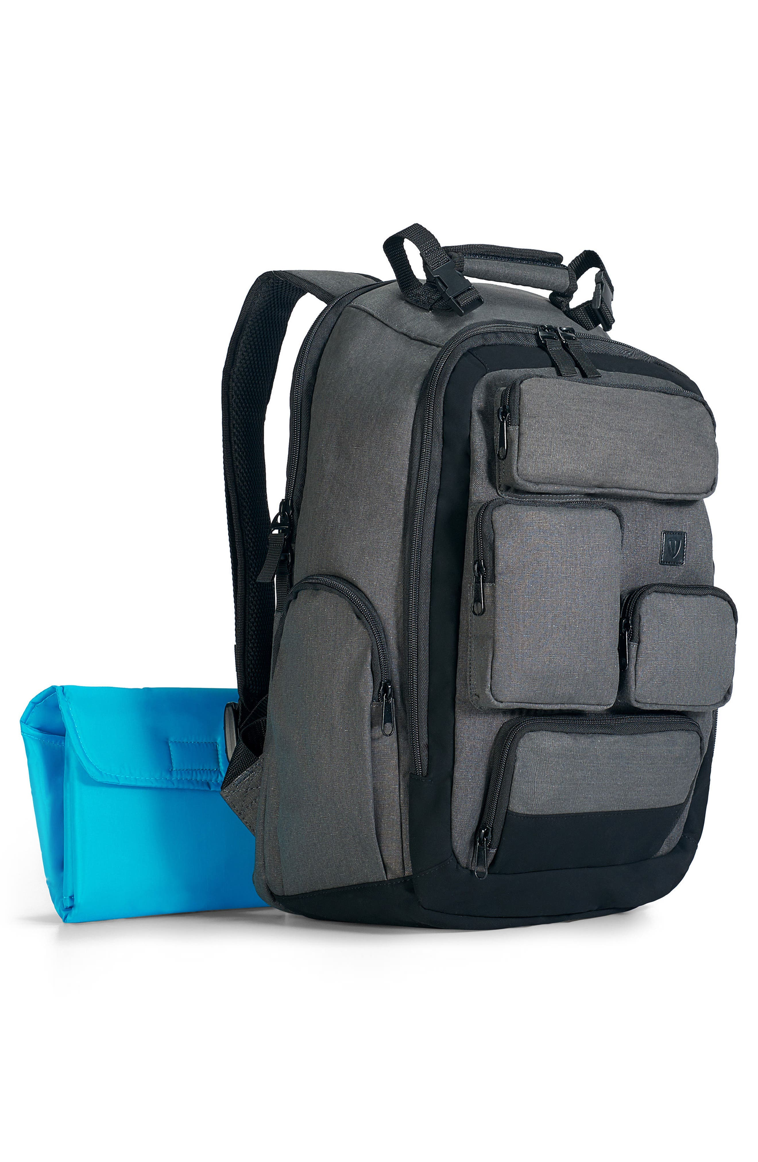 Canvas Diaper Backpack,                             Alternate thumbnail 3, color,                             020