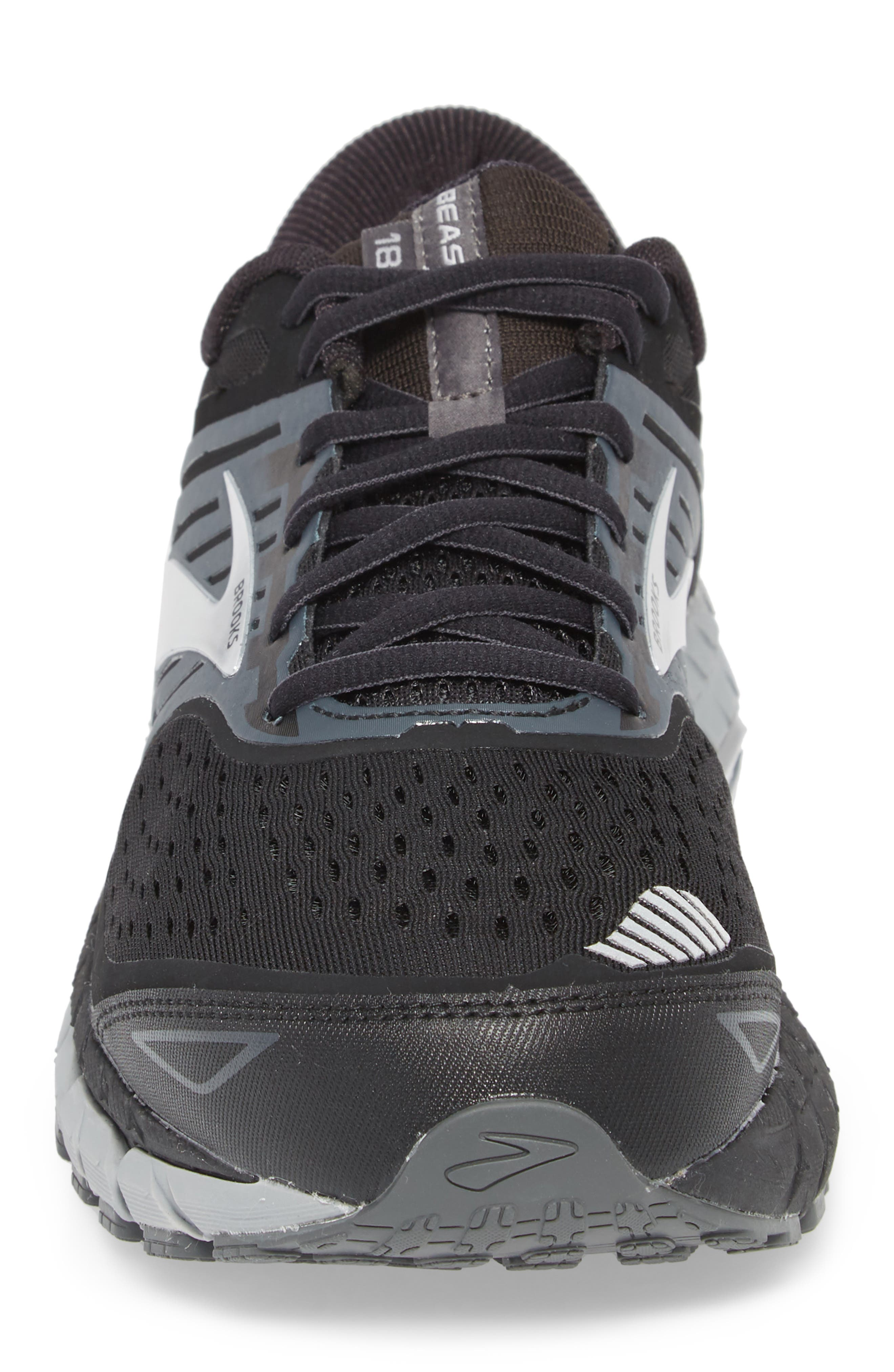 Beast '18 Running Shoe,                             Alternate thumbnail 4, color,                             BLACK/ GREY/ SILVER