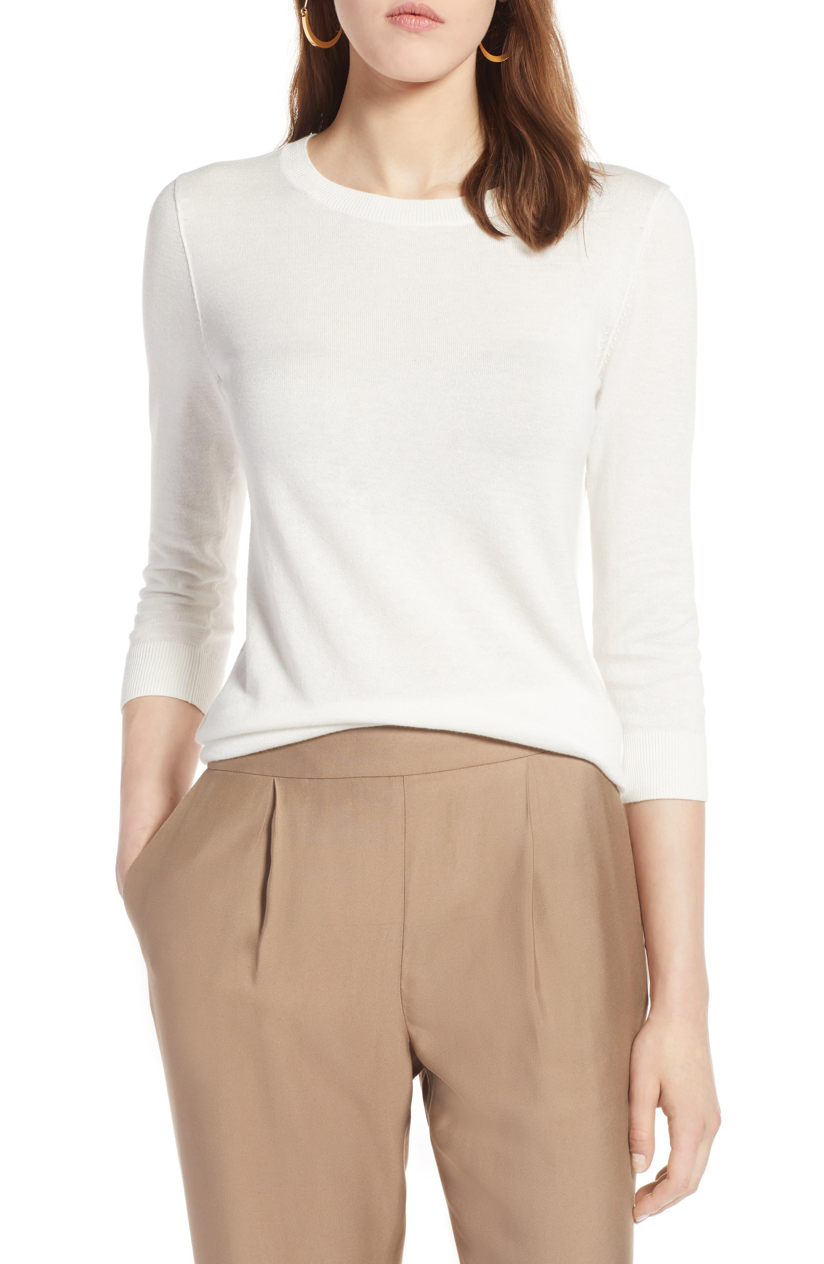 Cotton Blend Pullover,                             Main thumbnail 6, color,