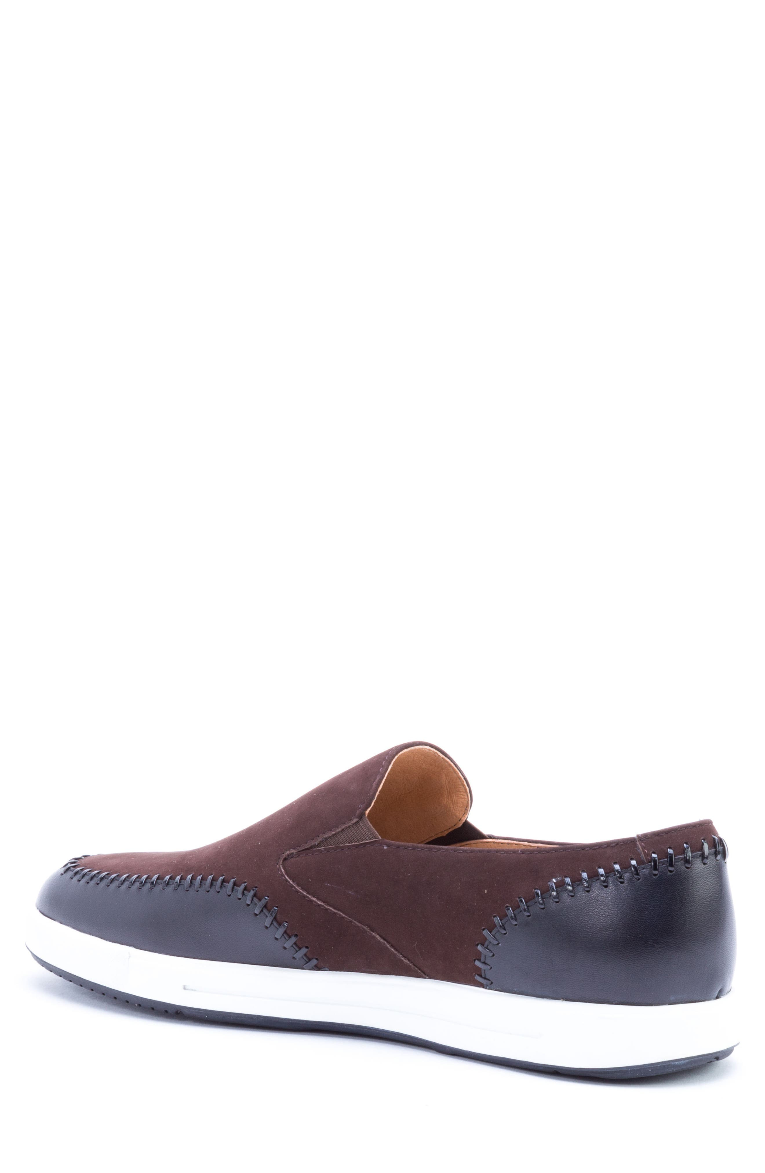 Caravaggio Whipstitched Slip-On Sneaker,                             Alternate thumbnail 2, color,                             BROWN SUEDE/ LEATHER