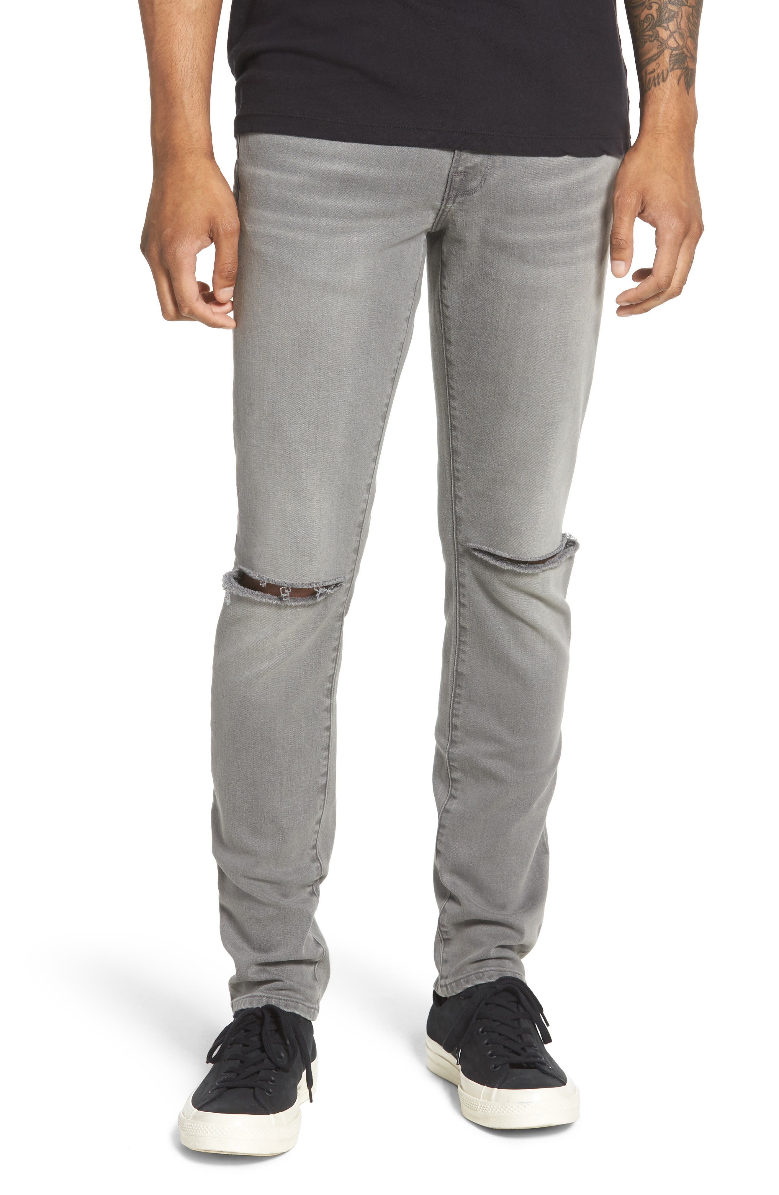 L'Homme Skinny Fit Jeans,                             Main thumbnail 1, color,                             030