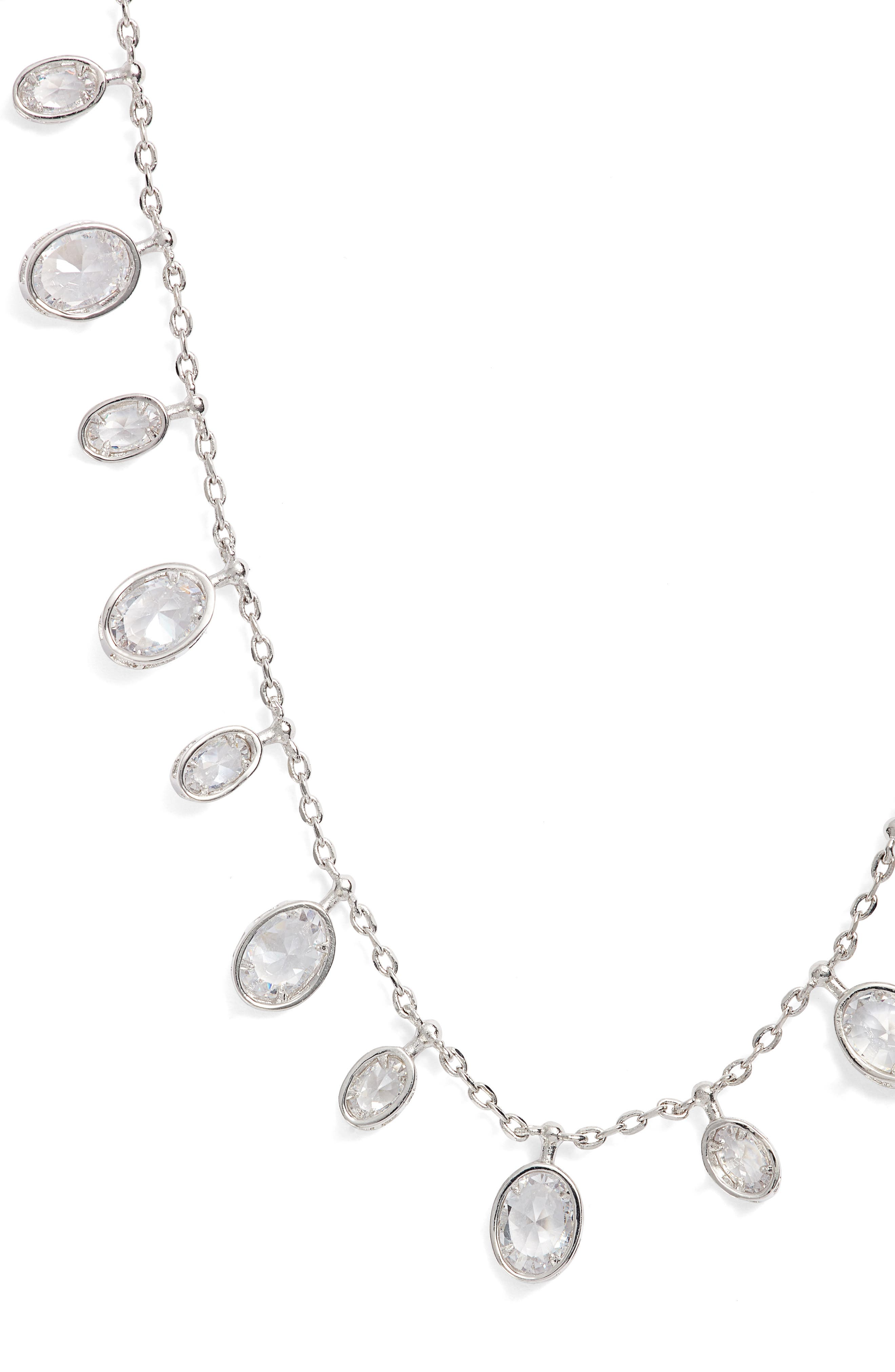 Tracey Cubic Zirconia Collar Necklace,                             Main thumbnail 1, color,                             041
