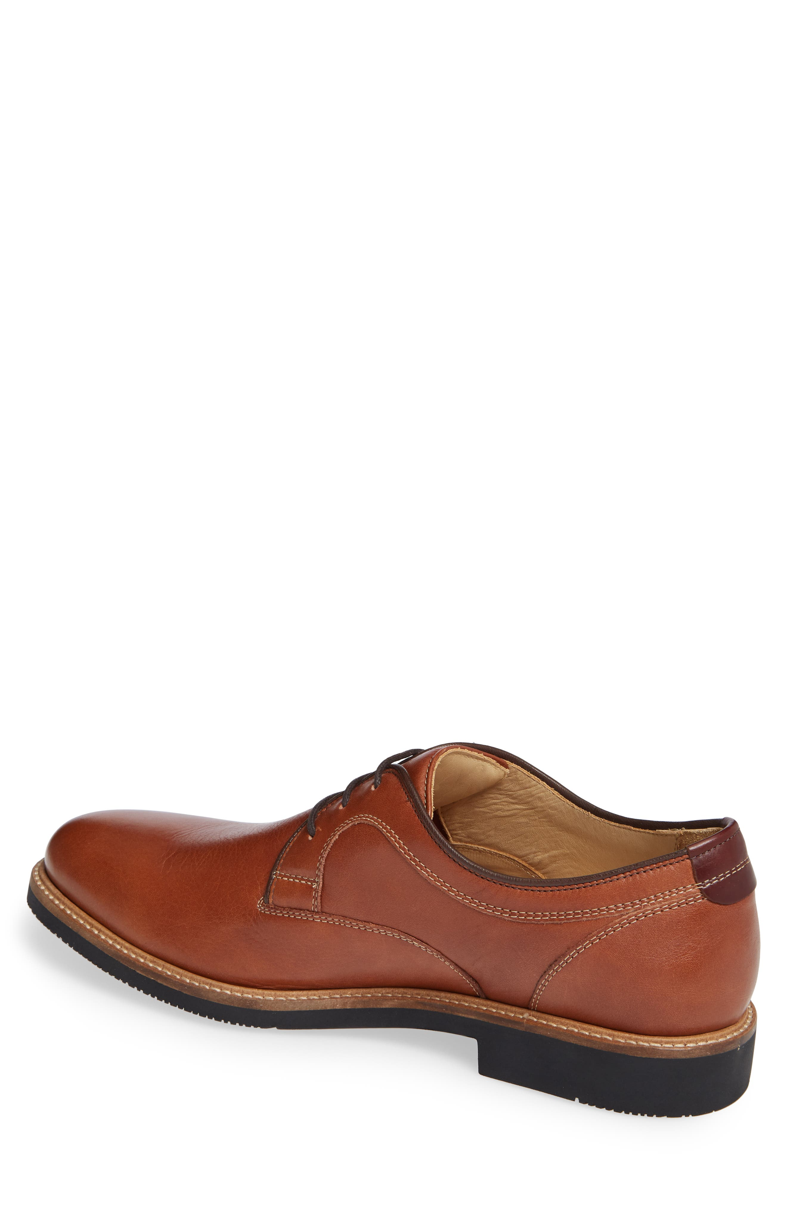 Barlow Plain Toe Derby,                             Alternate thumbnail 2, color,                             DARK TAN LEATHER