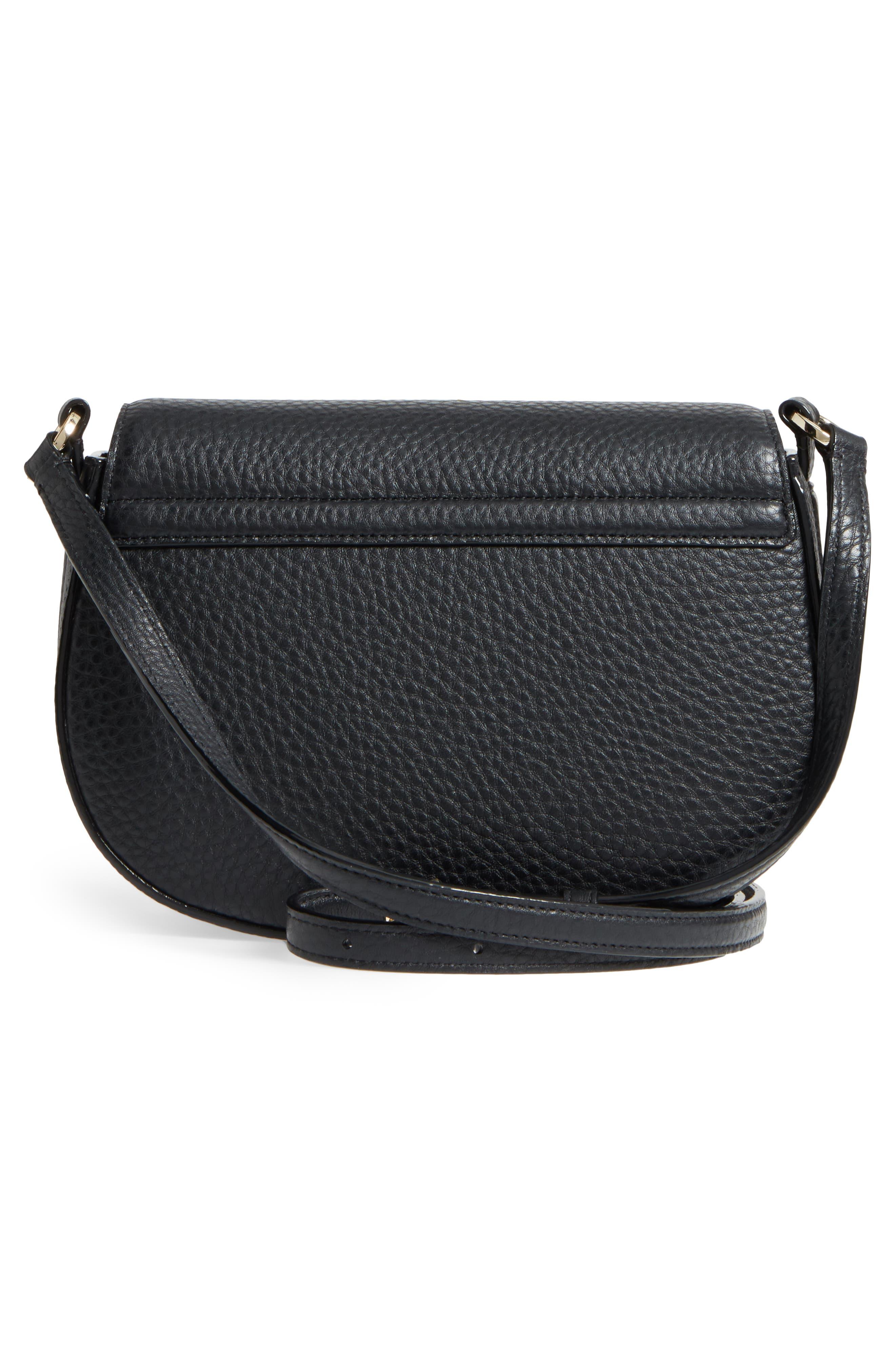 carlyle street - kallie leather saddle bag,                             Alternate thumbnail 7, color,
