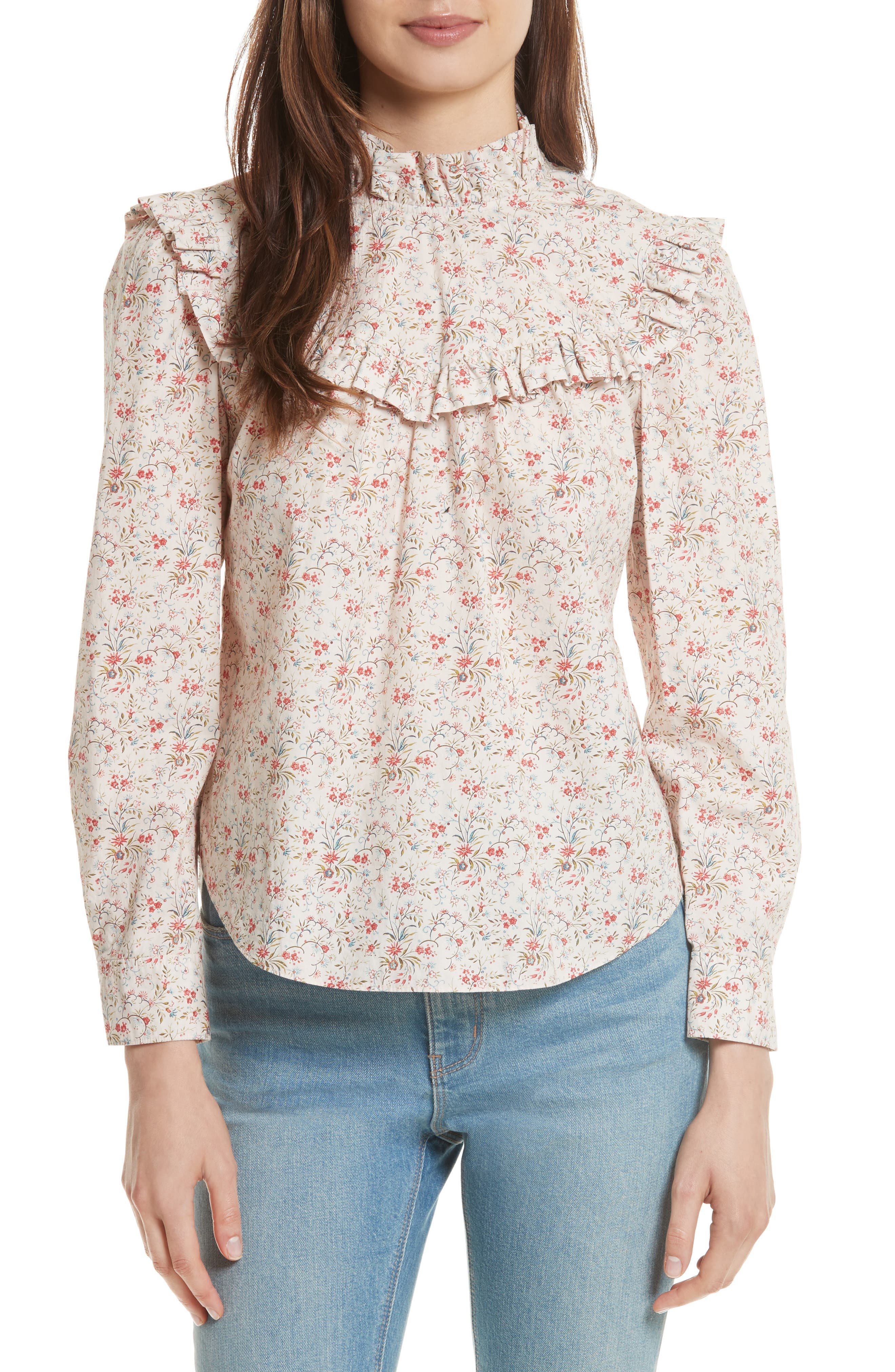 Brittany Floral Blouse,                             Main thumbnail 1, color,                             902