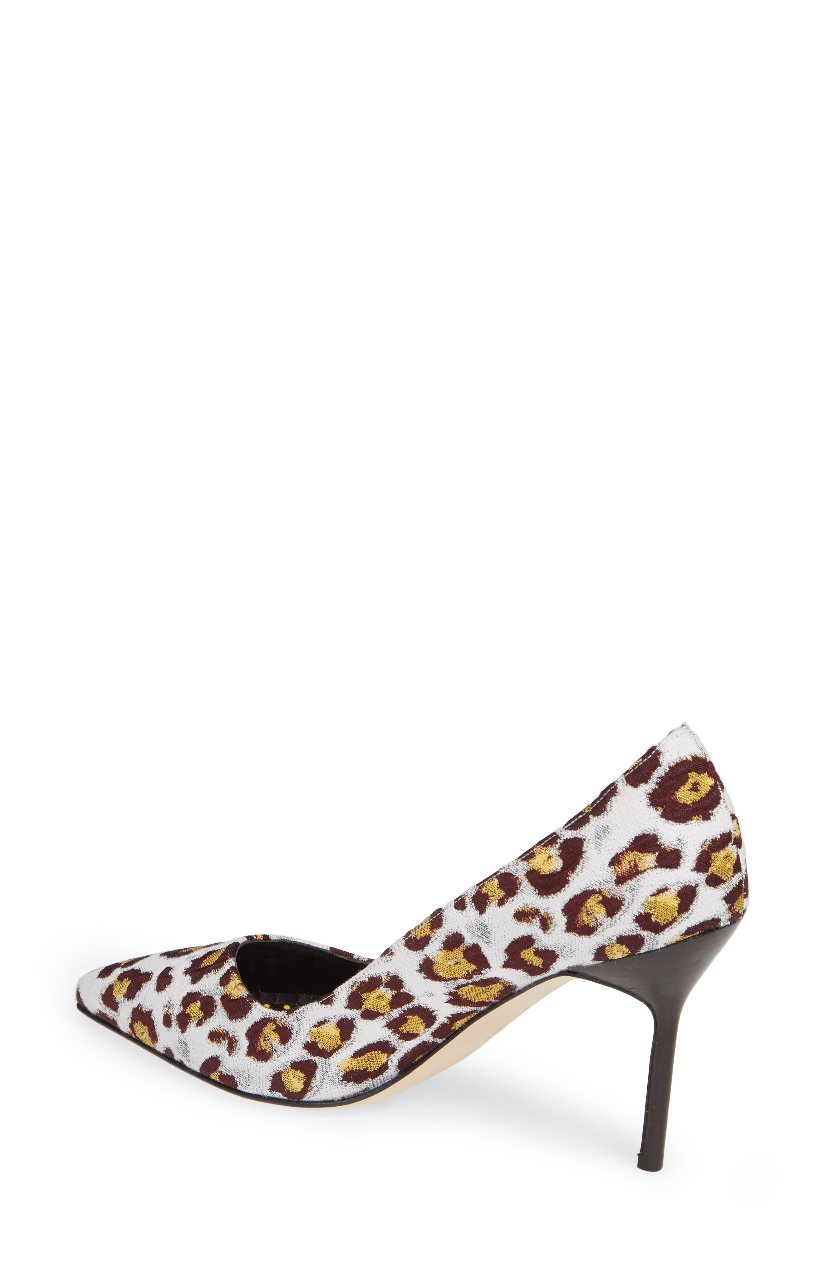 Pointy Toe Pump,                             Alternate thumbnail 2, color,                             LEOPARD
