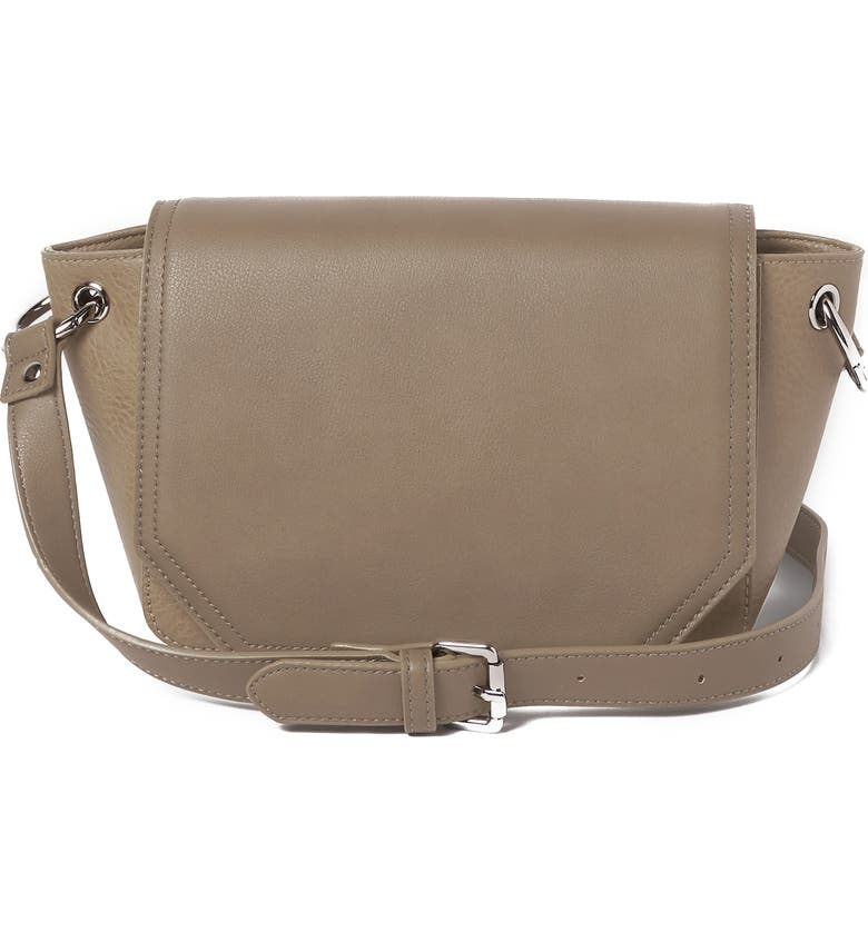 Urban Originals CITY SLING VEGAN LEATHER CROSSBODY BAG - BEIGE