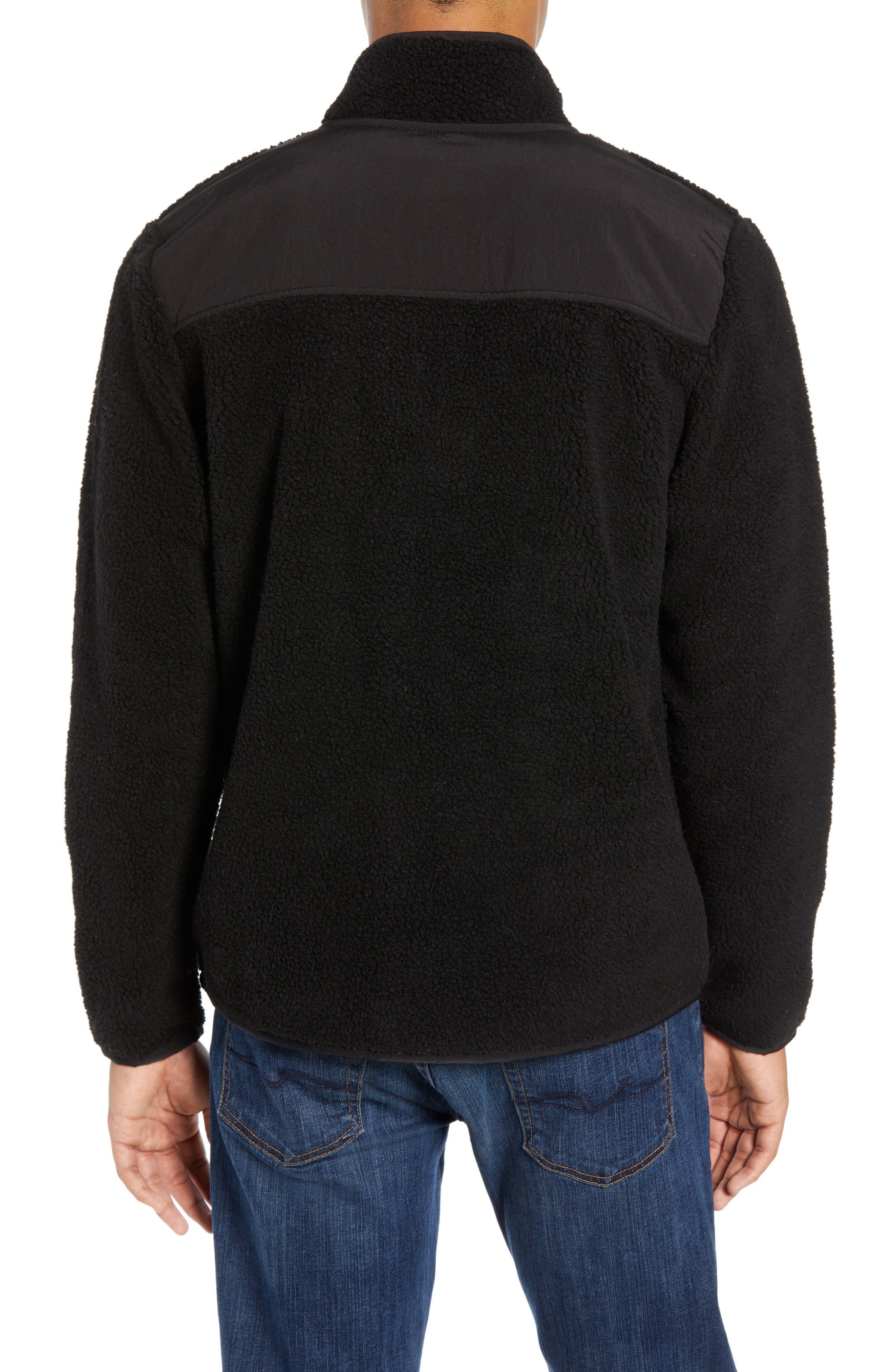 Quarter Zip Fleece Pullover,                             Alternate thumbnail 2, color,                             BLACK CAVIAR