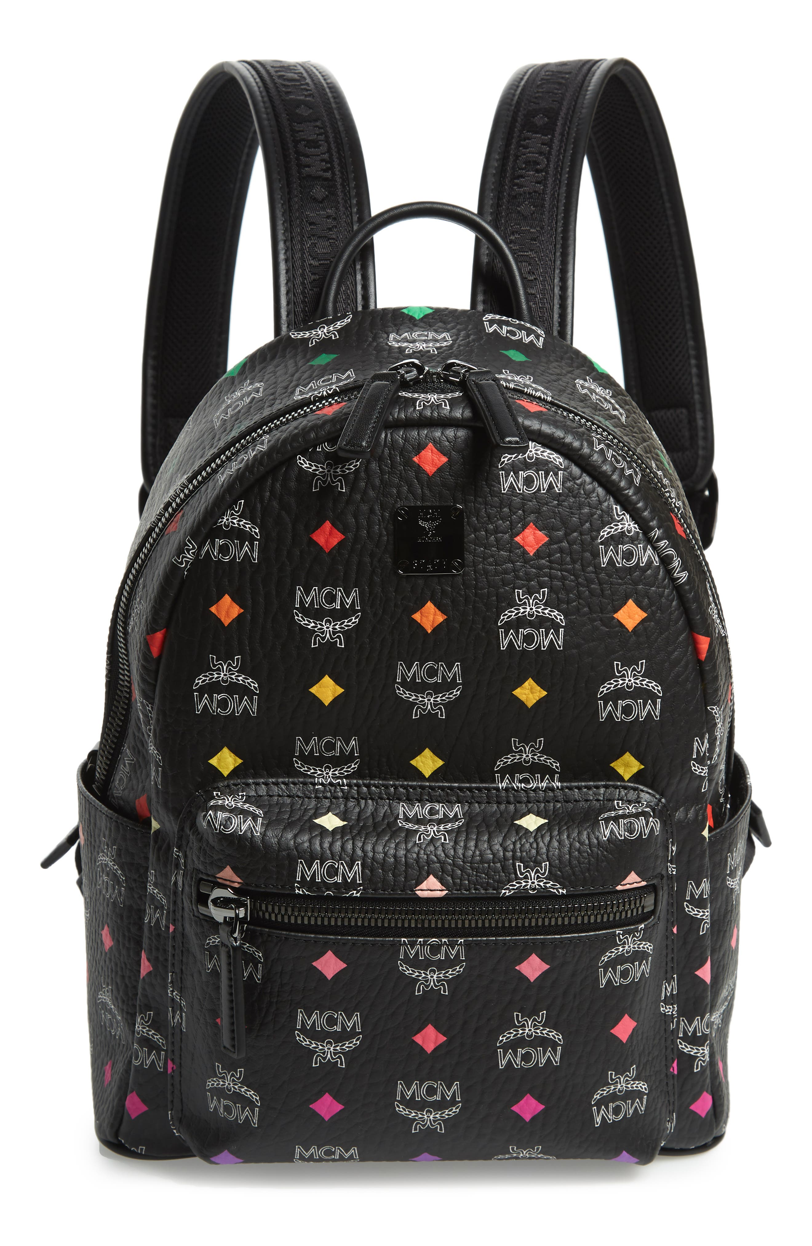 MCM Small Stark Spektrum Backpack, Main, color, SPECTRUM DIAMOND BLACK