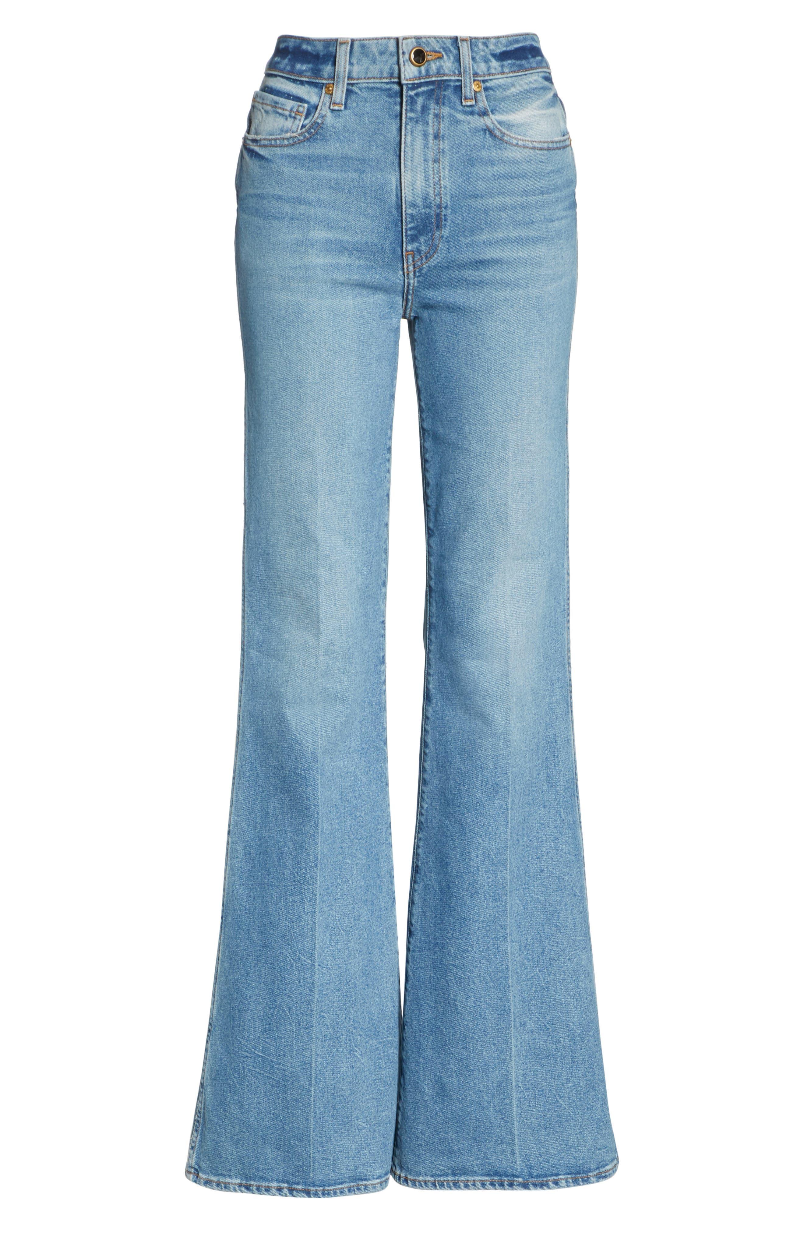 Reece Flare Jeans,                             Alternate thumbnail 6, color,                             401