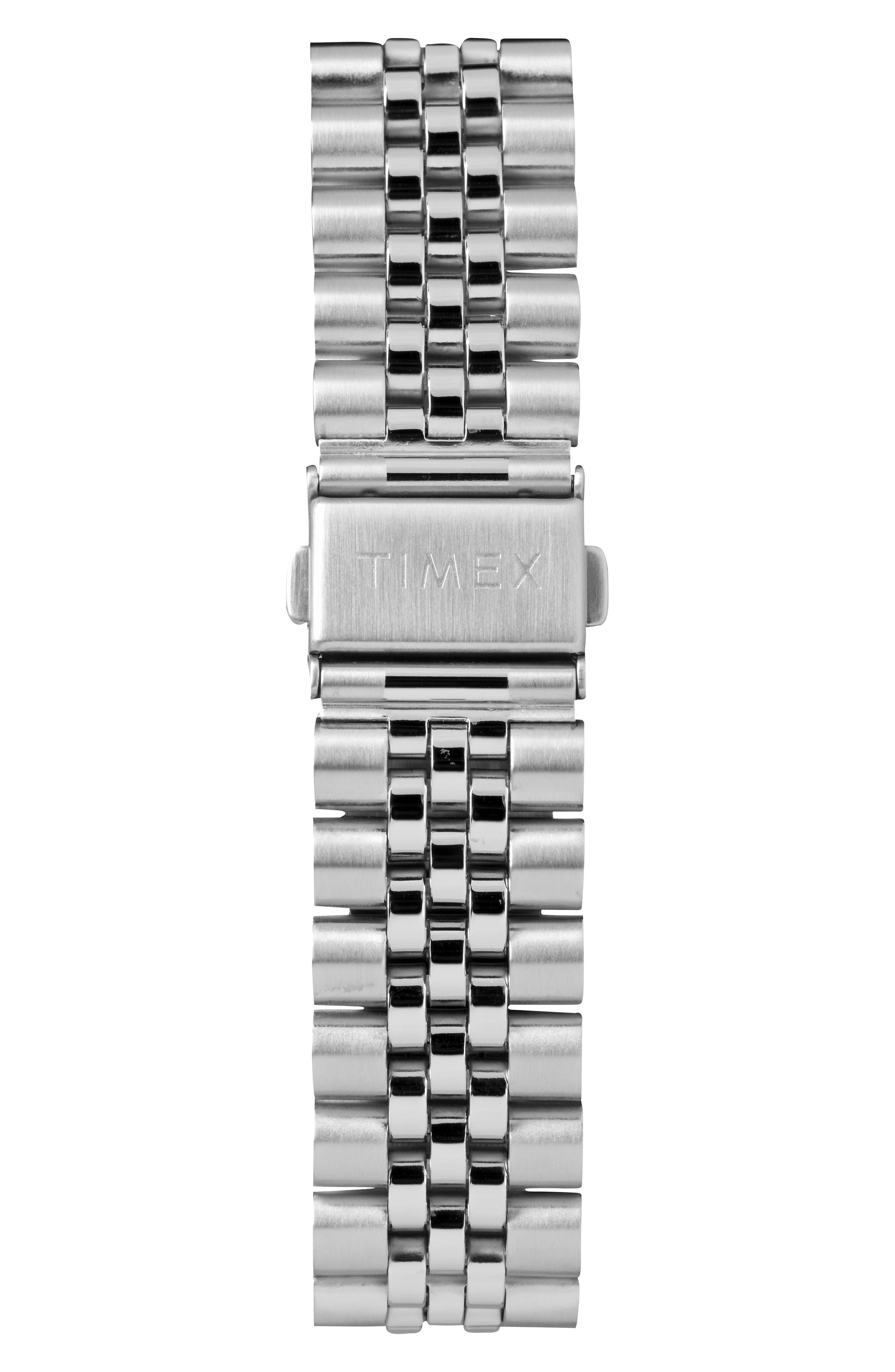 Waterbury Chronograph Bracelet Watch, 42mm,                             Alternate thumbnail 2, color,                             SILVER/ WHITE/ SILVER