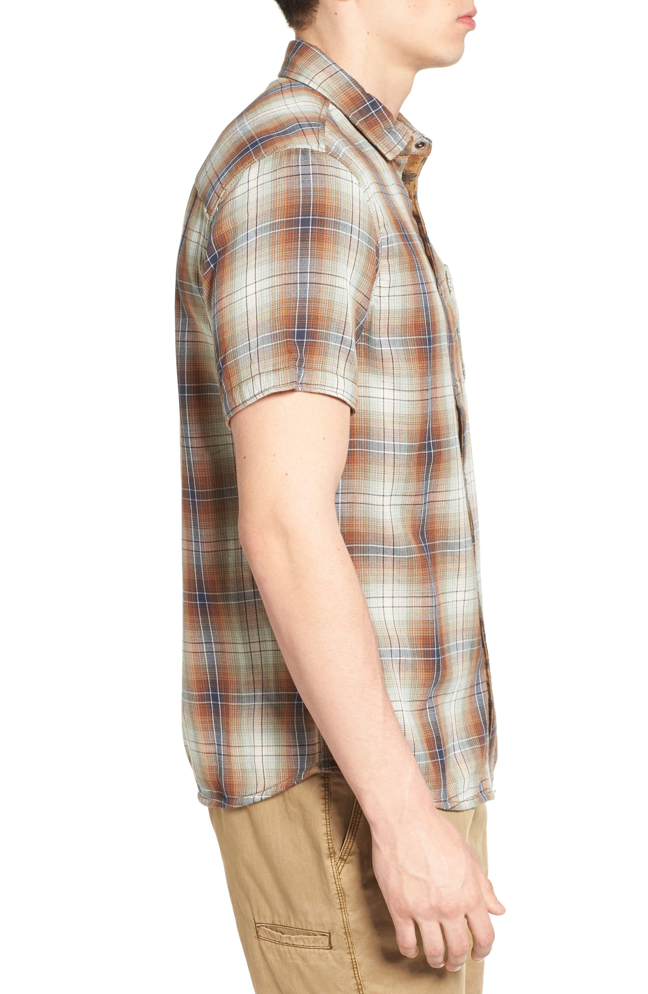 Badlands Regular Fit Reversible Plaid Sport Shirt,                             Alternate thumbnail 3, color,
