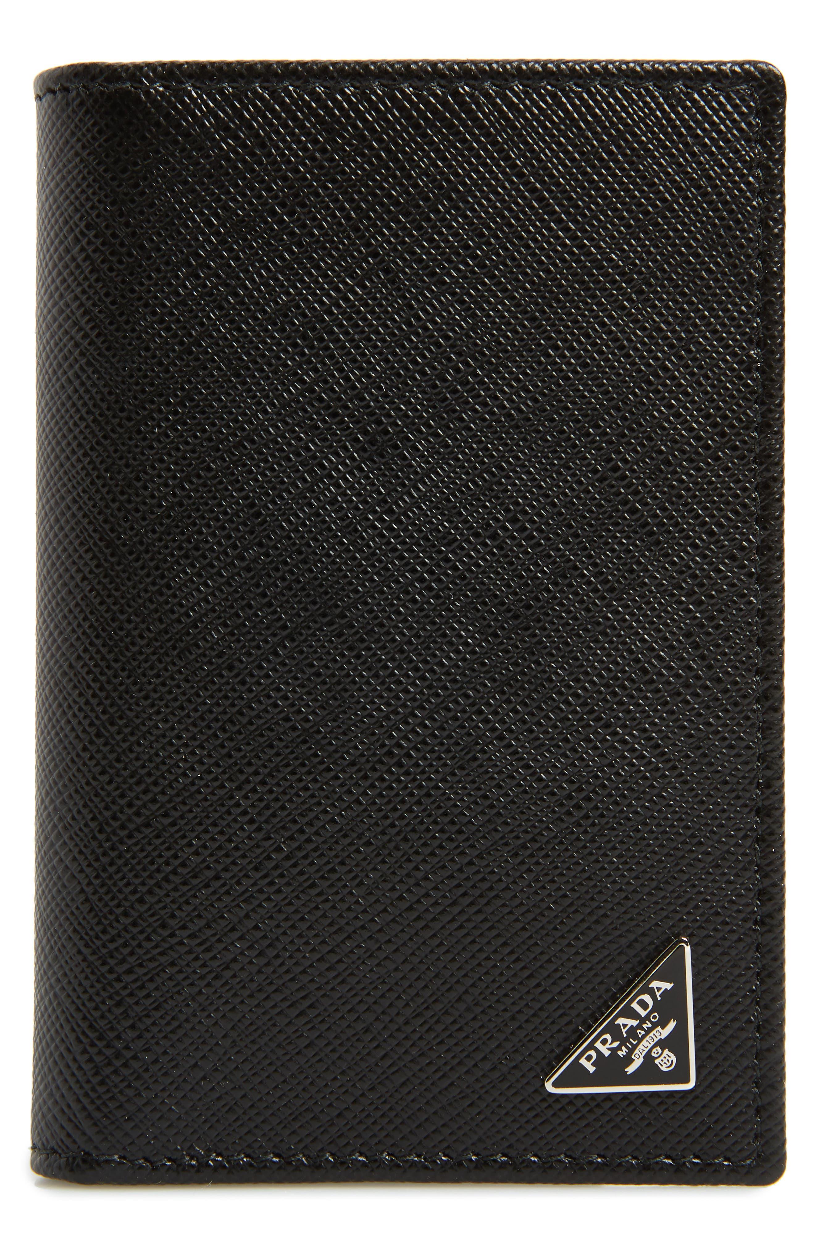 Long Saffiano Leather Card Case,                             Main thumbnail 1, color,                             001