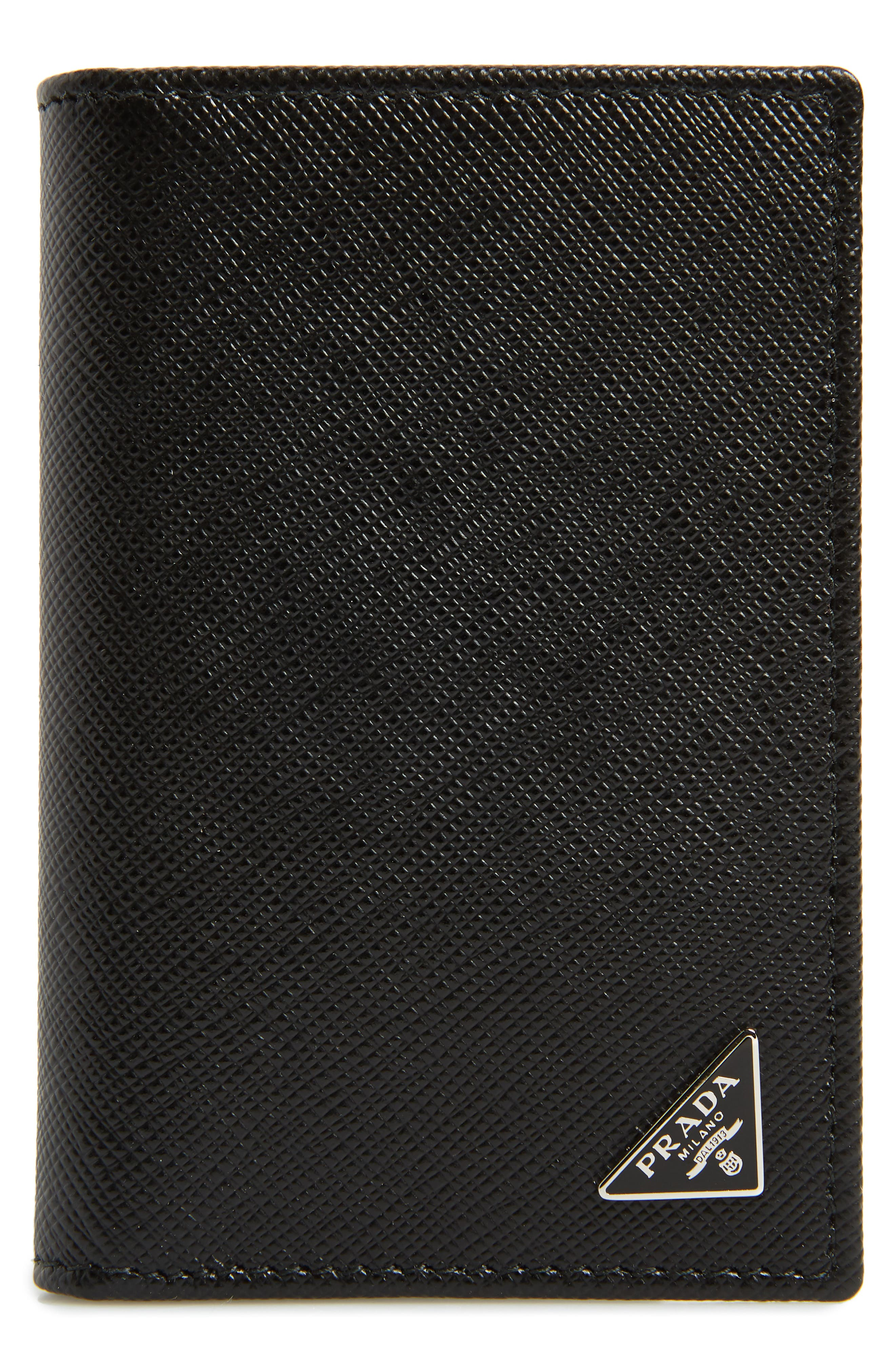 Long Saffiano Leather Card Case,                         Main,                         color, 001